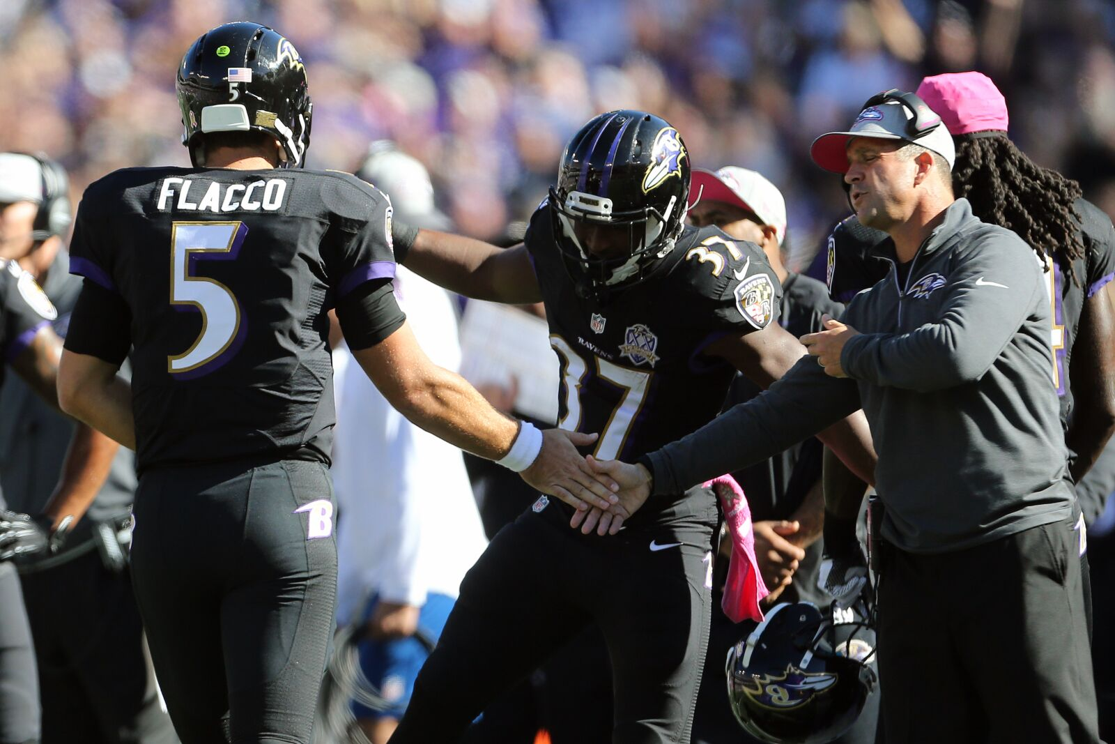 John Harbaugh staying attached to Joe Flacco right to bitter end