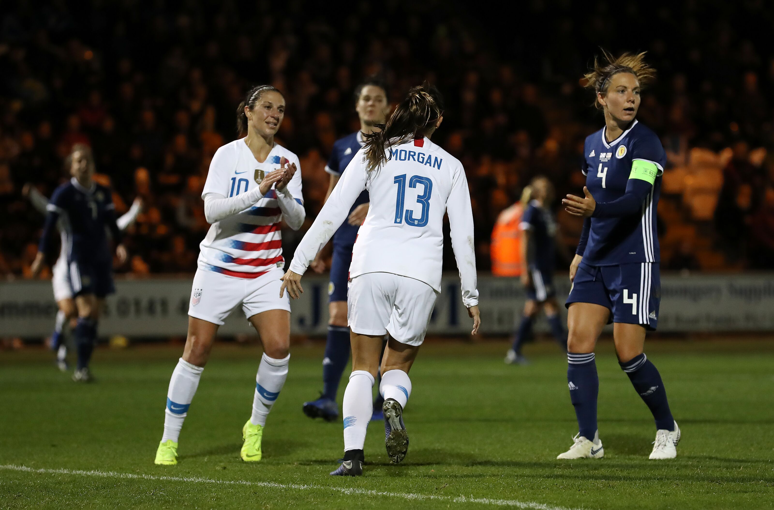 Alex Morgan completes stunning year for USWNT vs. Scotland