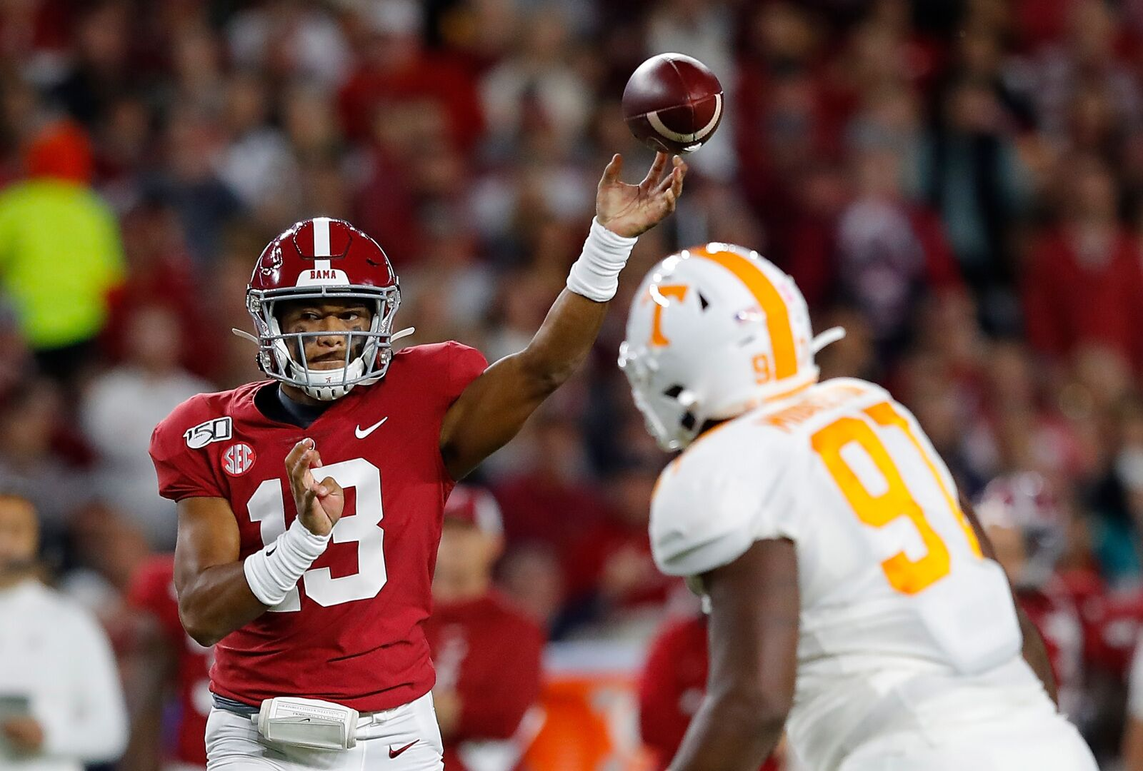 Tua Tagovailoa undergoes procedure on injured ankle, could return in time for LSU