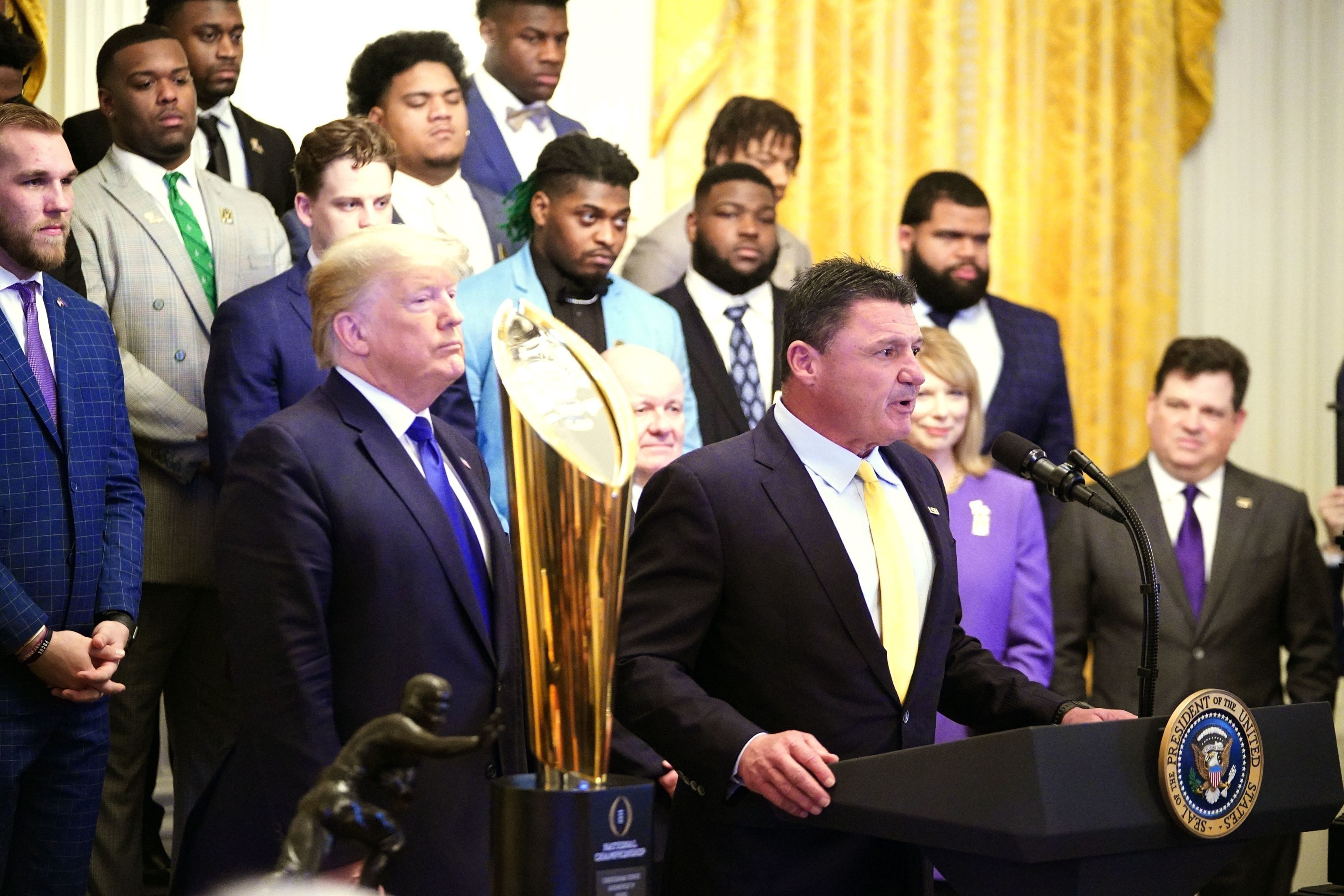 LSU's Get the Gat celebration dance goes viral at the White House