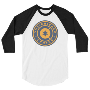 One Chicago Center 3/4 sleeve raglan shirt