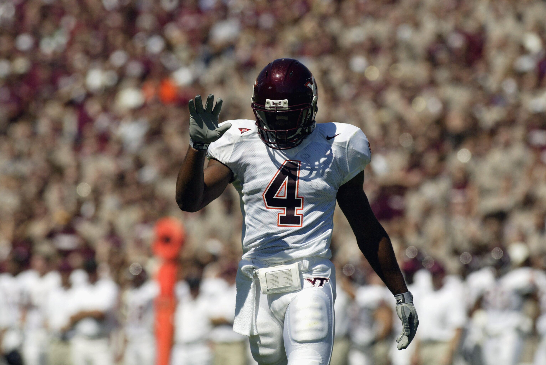 Virginia Tech Football Flashback Friday For Hokie Great Deangelo Hall