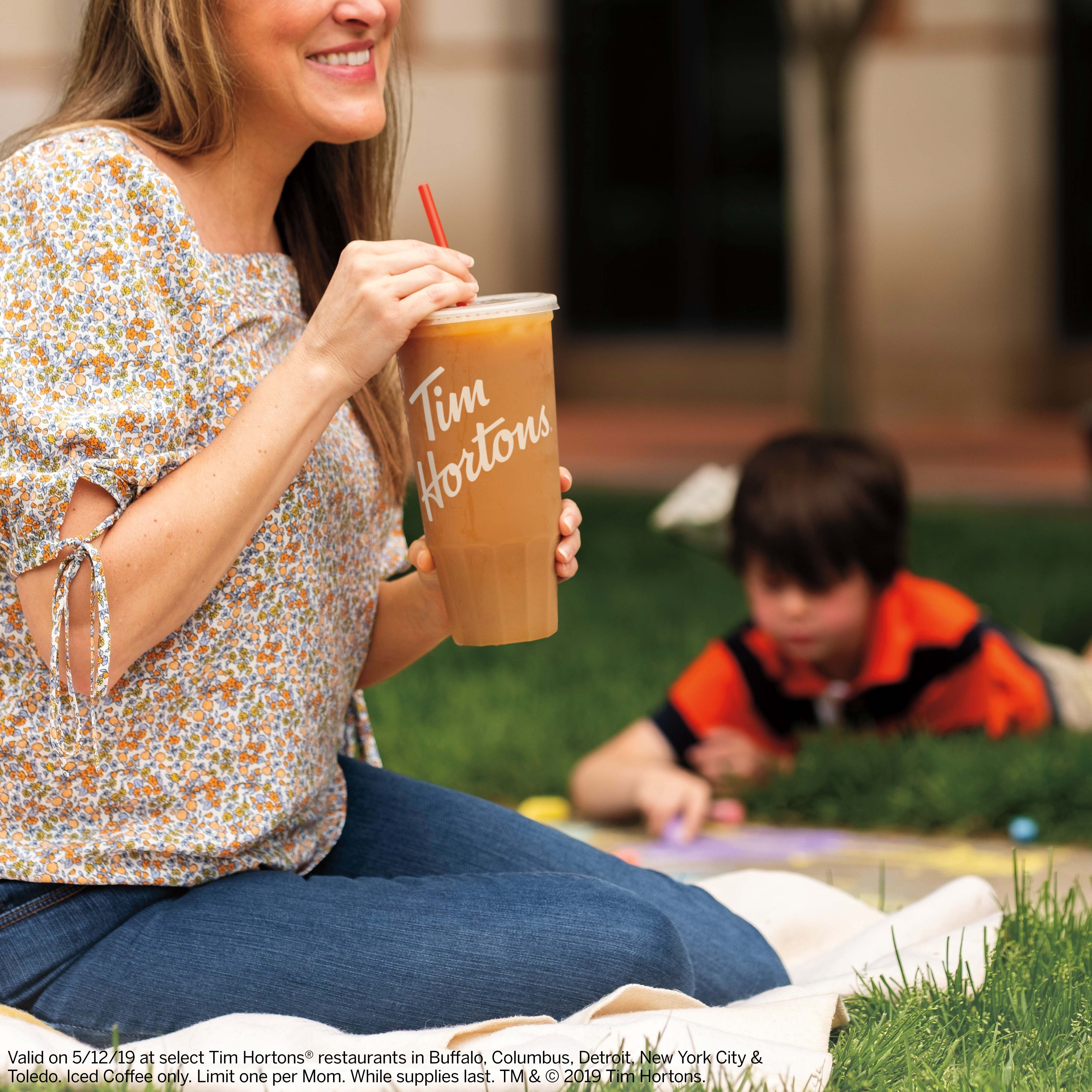 Moms need a Mom-sized iced coffee and Tim Hortons delivers