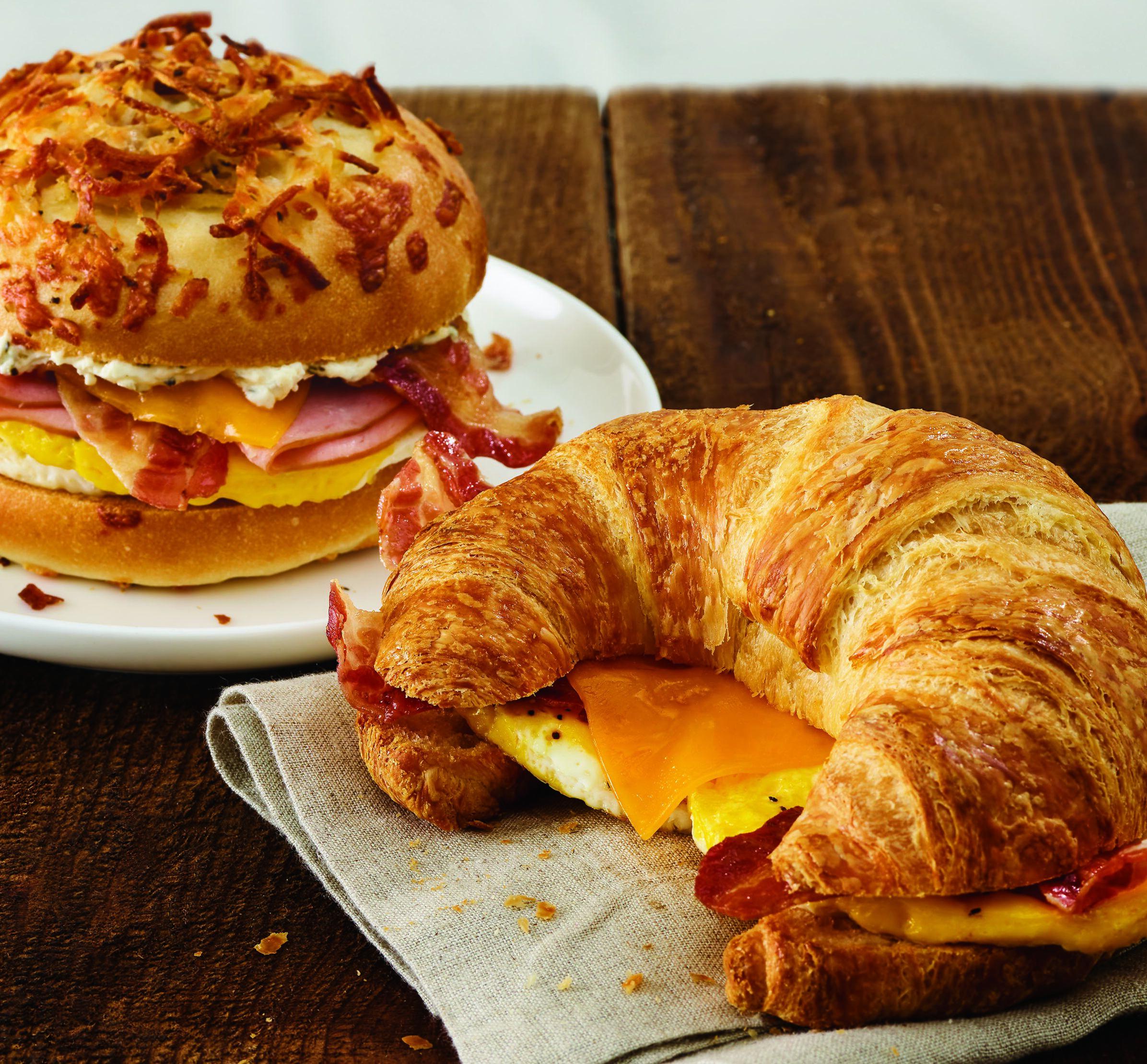 Move over bagels, Einstein Bros. Bagels adds a croissant sandwich