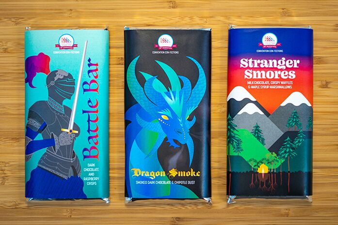 New Comic Con chocolate bars are here and we have a craving for all of them