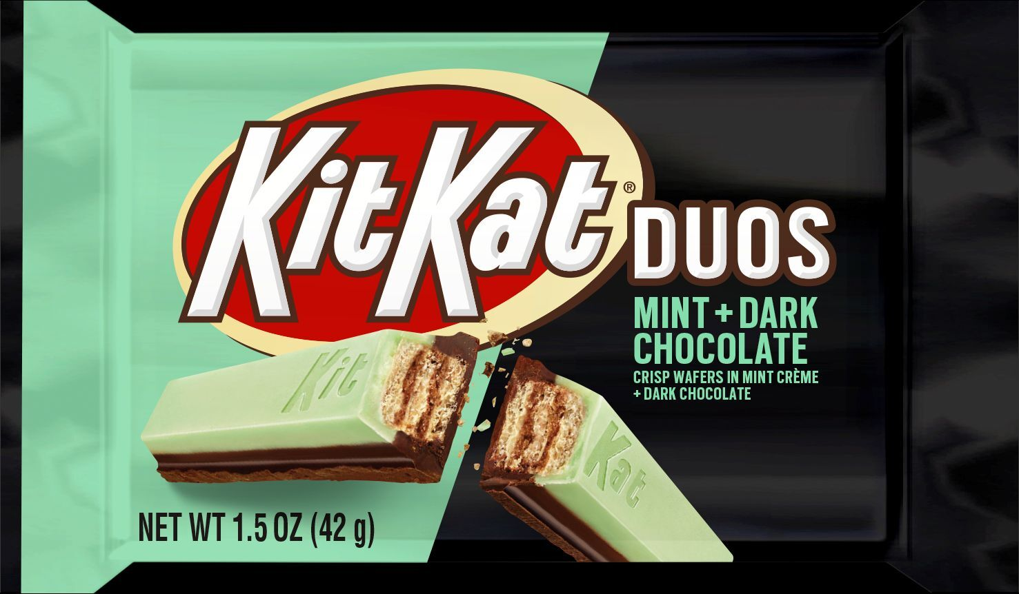 KIT KAT Duos Mint + Dark Chocolate is the mash-up you need