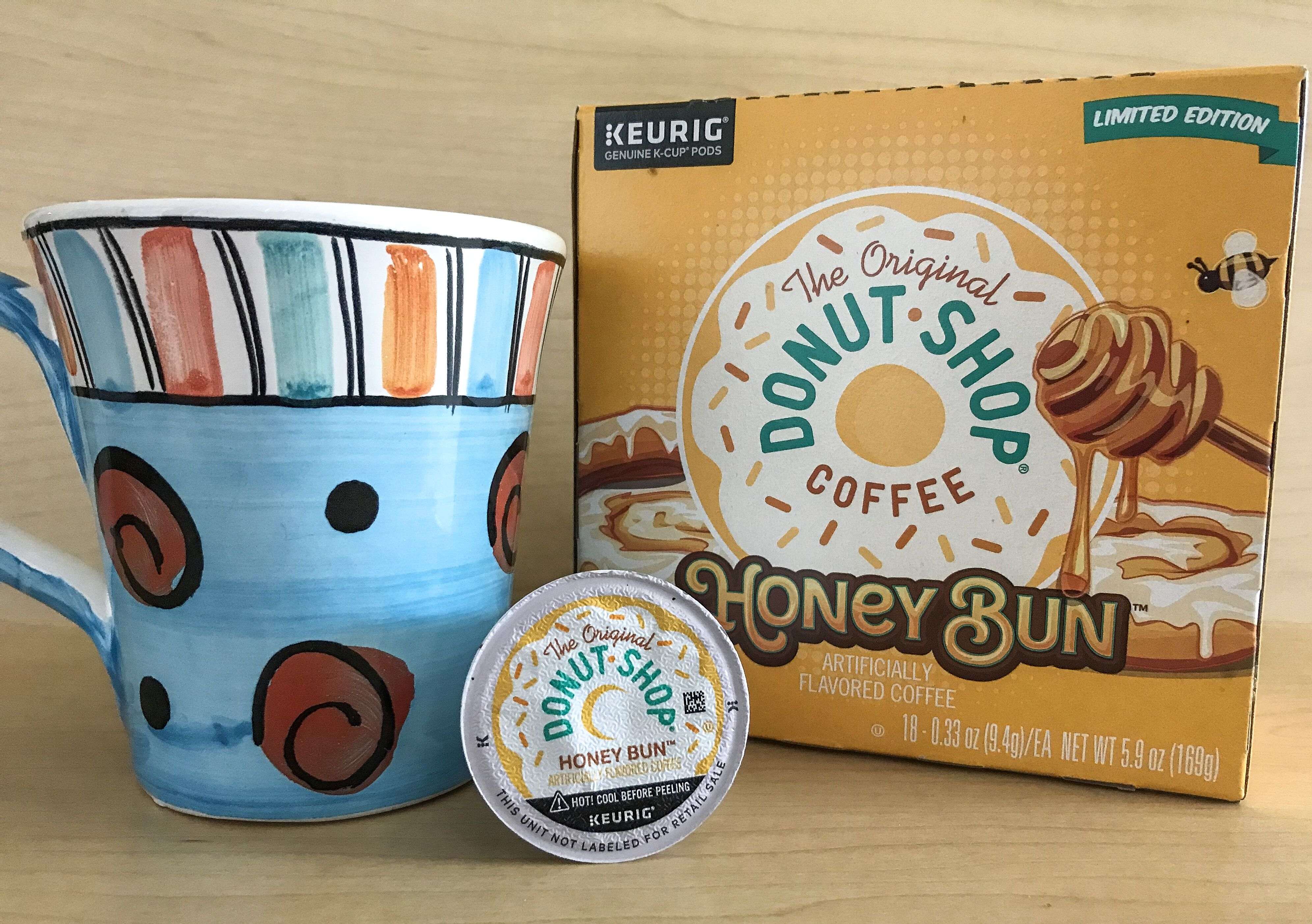 Original Donut Shop Honey Bun coffee, a touch of sweetness in your cup