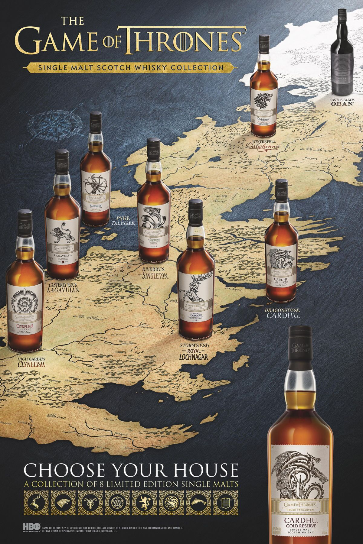 Johhnie Walker celebrates the legacy of Game of Thrones with new whisky