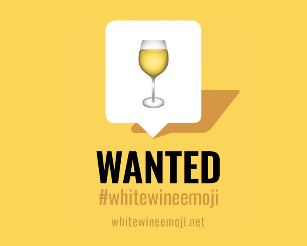 How can you celebrate National Wine Day without a white wine emoji?