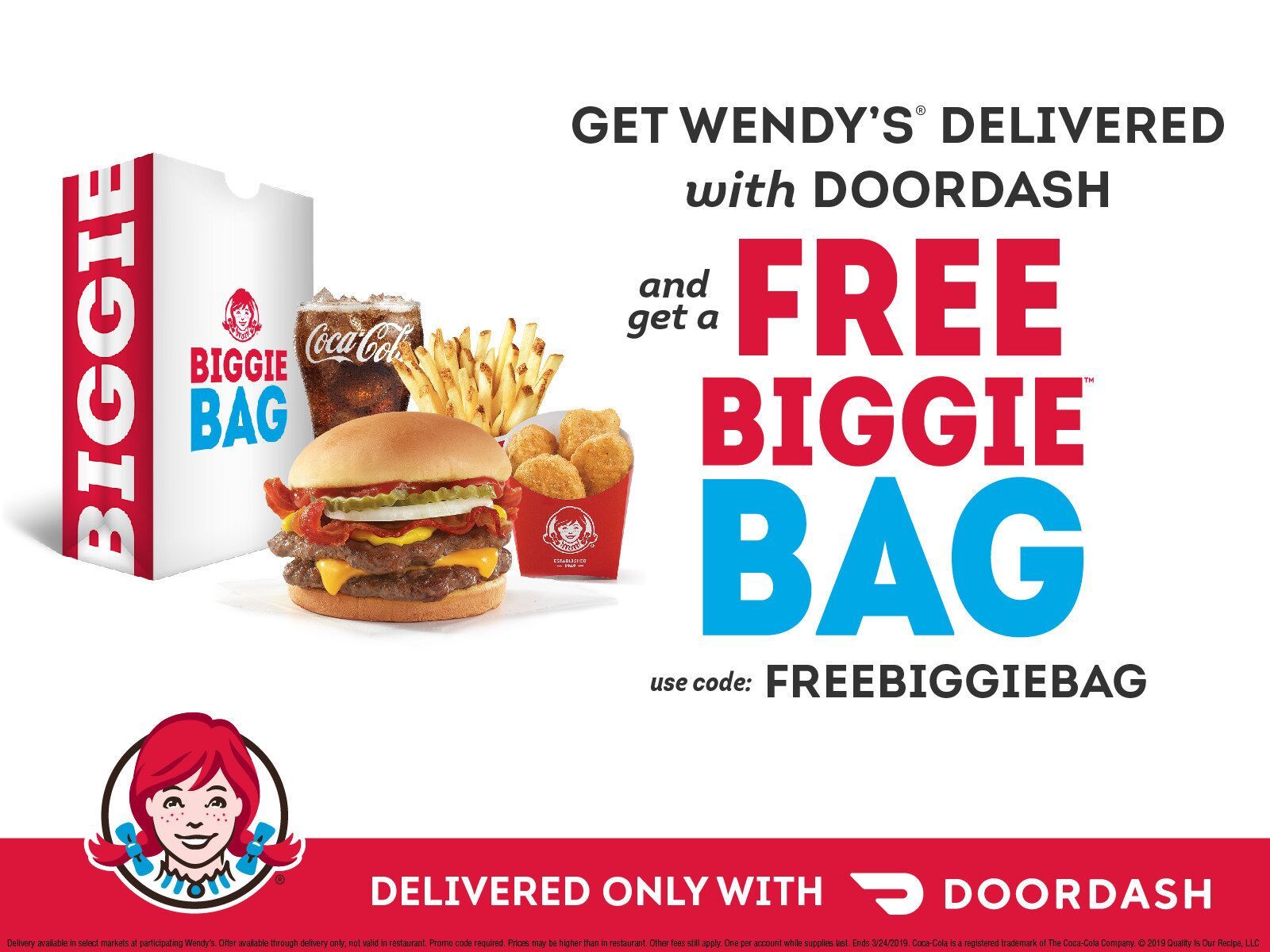 Free $5 Biggie Bag from Wendyu2019s and DoorDash is a slam dunk