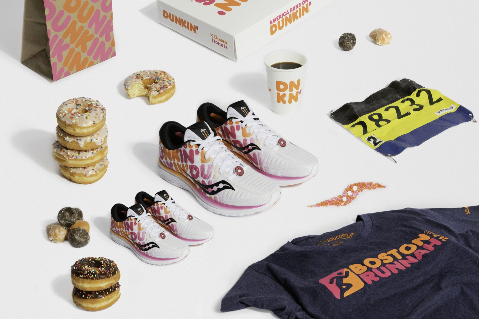 Ready to run with Dunkinu2019, Saucony sneaker collaboration is back