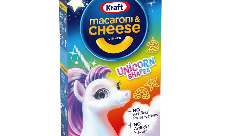 Unicorn Shapes Kraft Mac and Cheese is making dinner magical