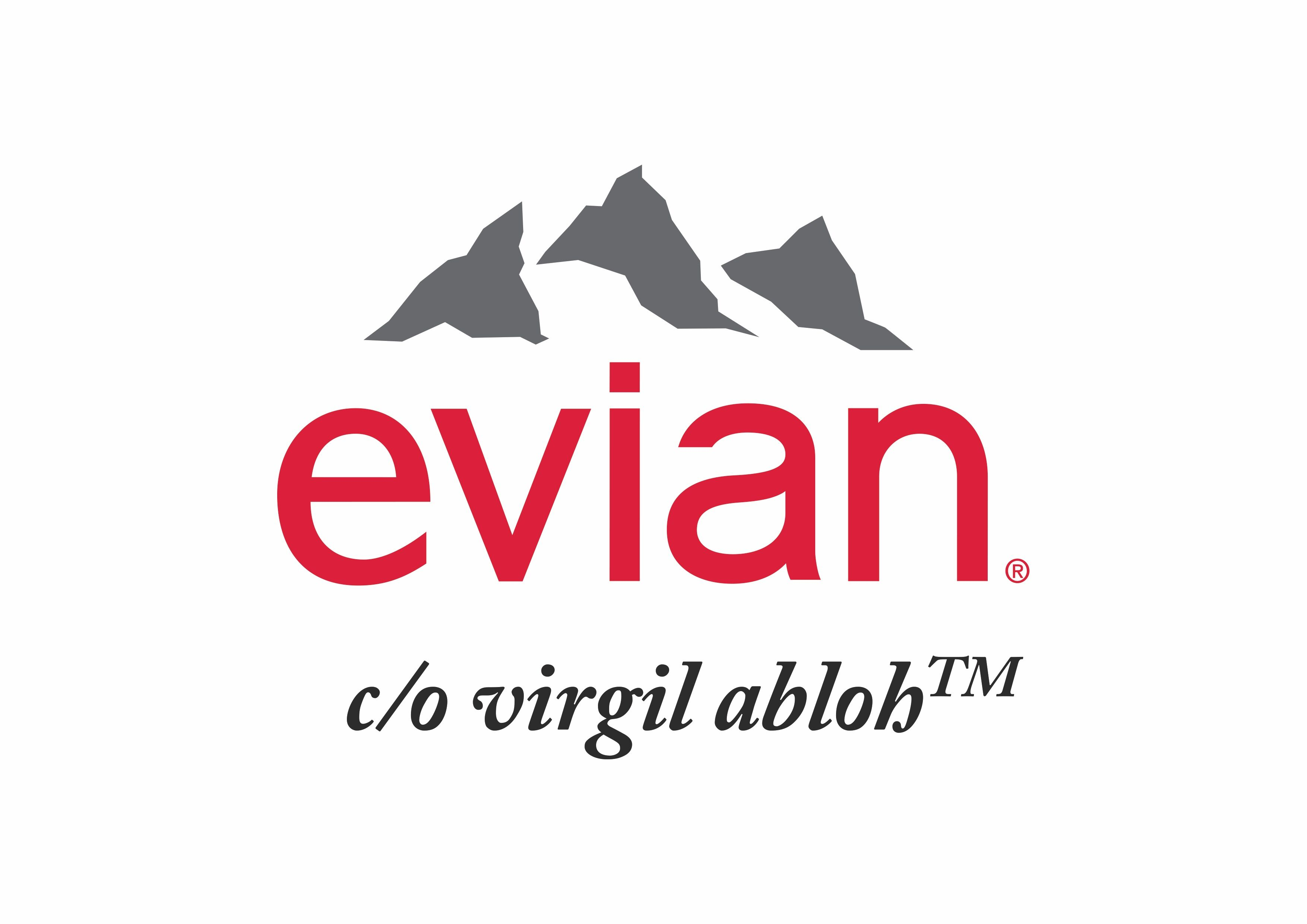 evian and Virgil Abloh believe one drop can make a rainbow