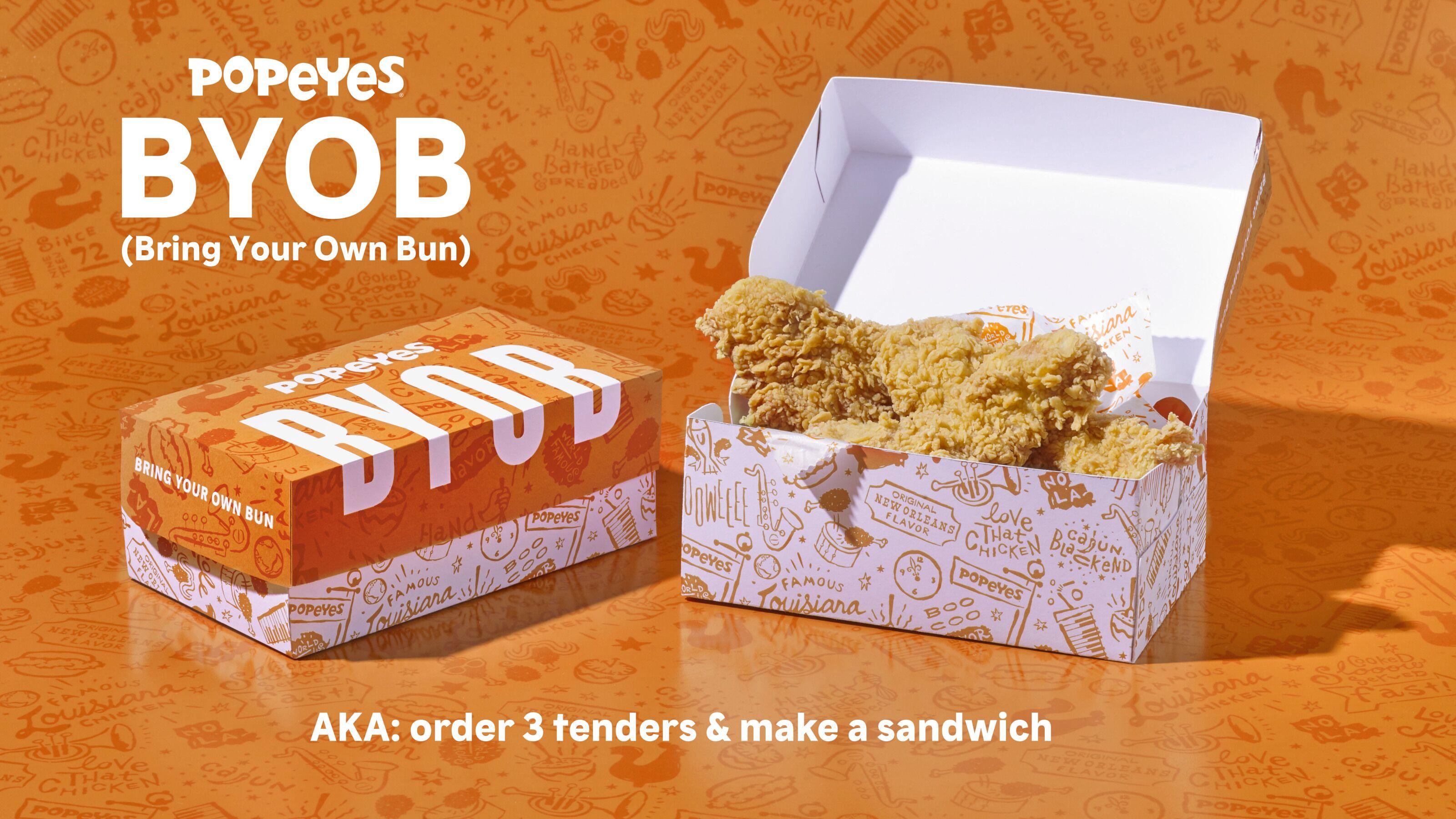 Craving a Popeyes chicken sandwich? Just bring your own bun
