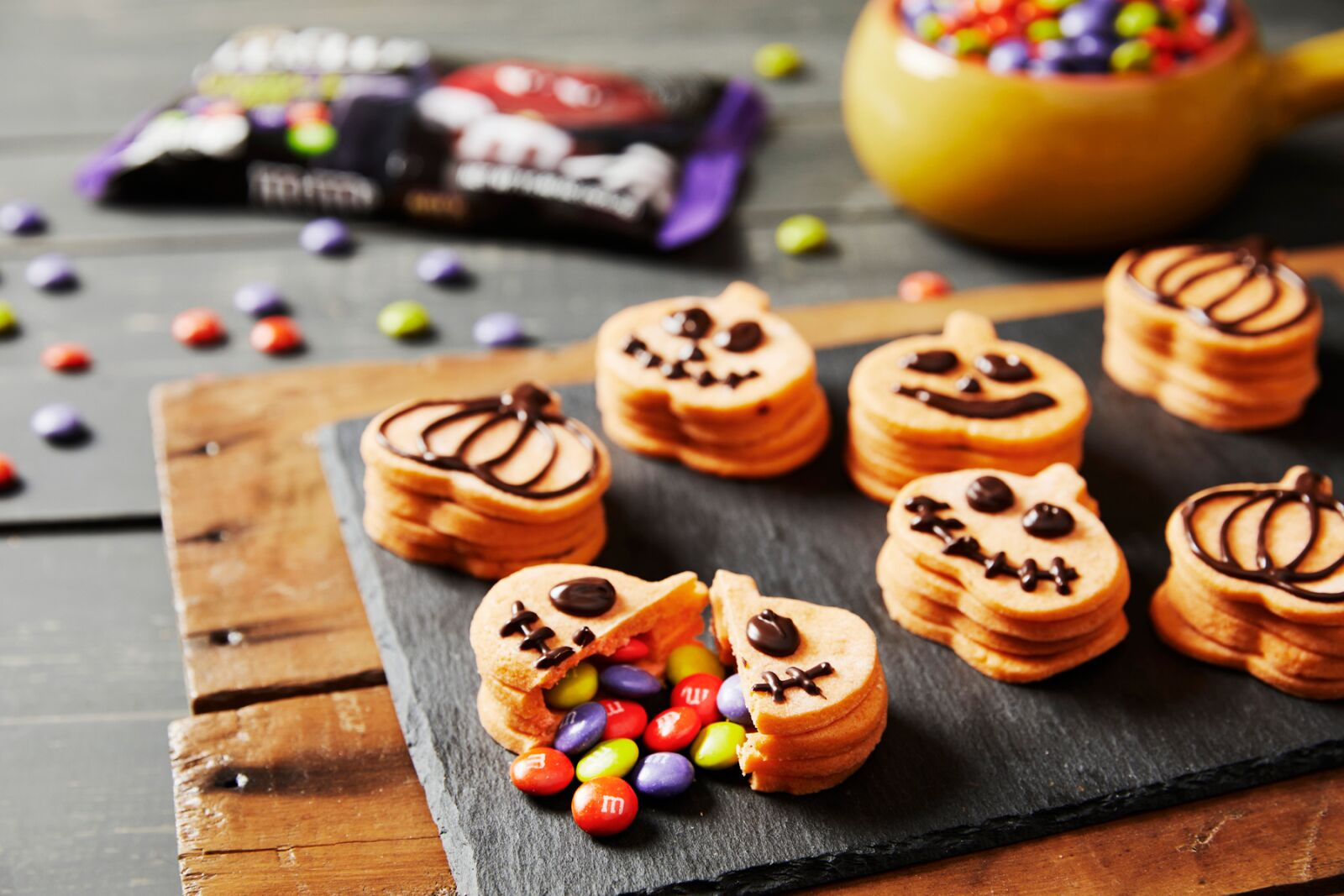Ghoul's Mix Explosion Pumpkin Cookies are Halloween scarily good