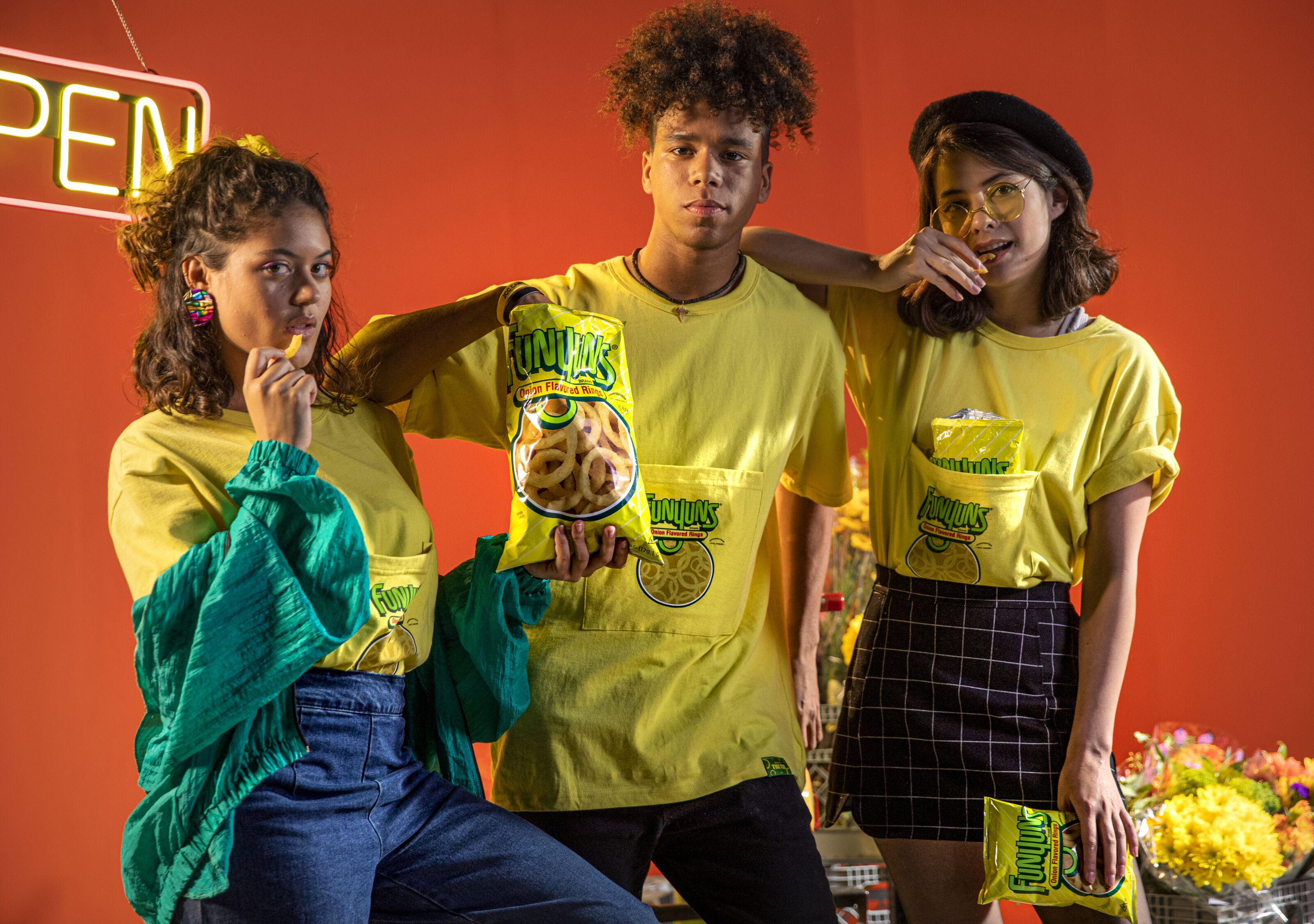 Funyuns fashion is perfect for snacking on the go