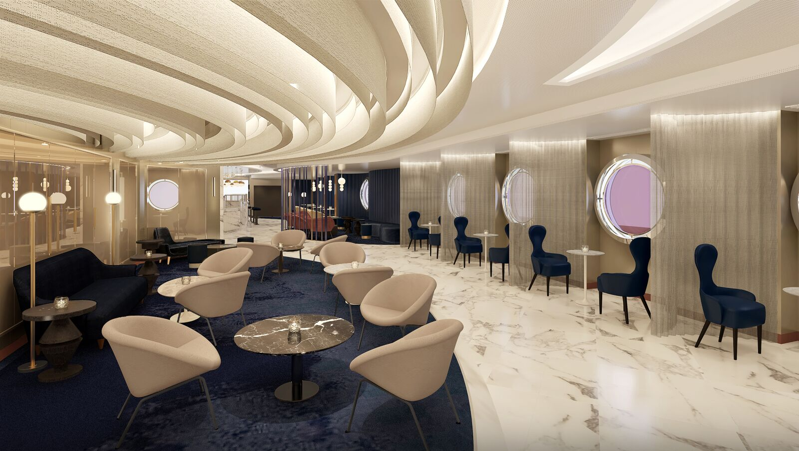 Shake for Champagne, Virgin Voyages offers champagne on demand