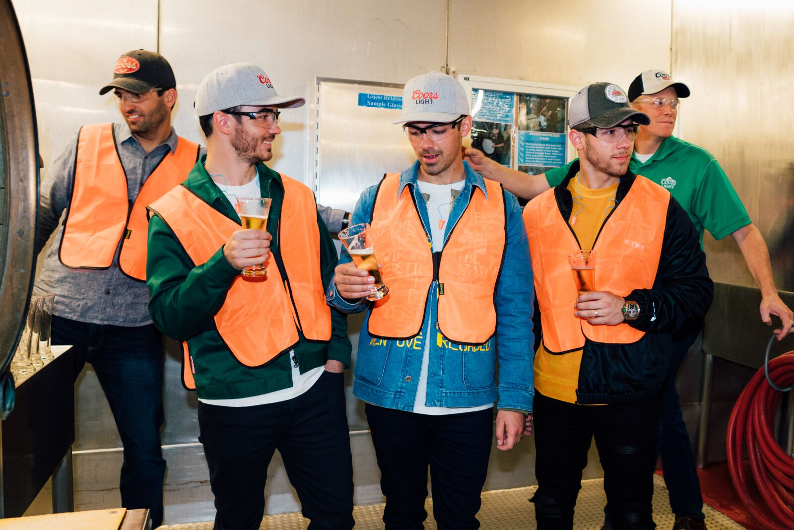 Jonas Brothers take over Coors Light's iconic mountain peaks
