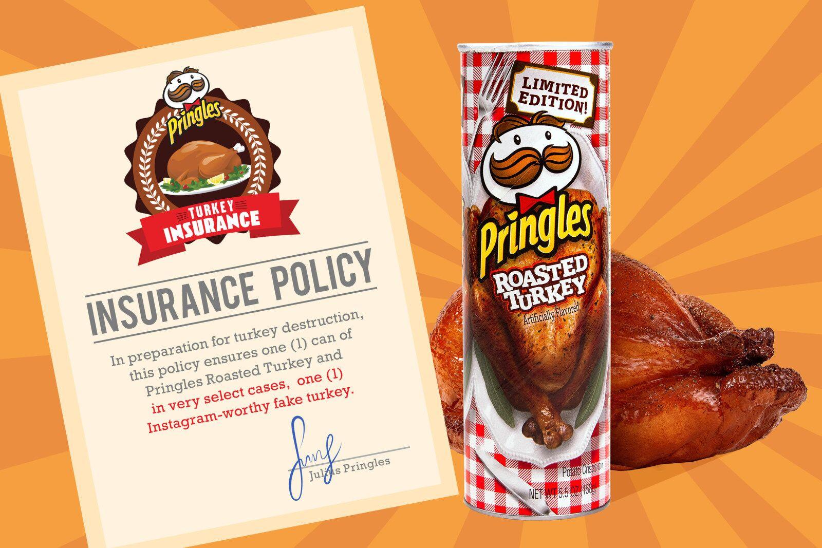 Pringles Roasted Turkey crisps eliminate the Thanksgiving worry