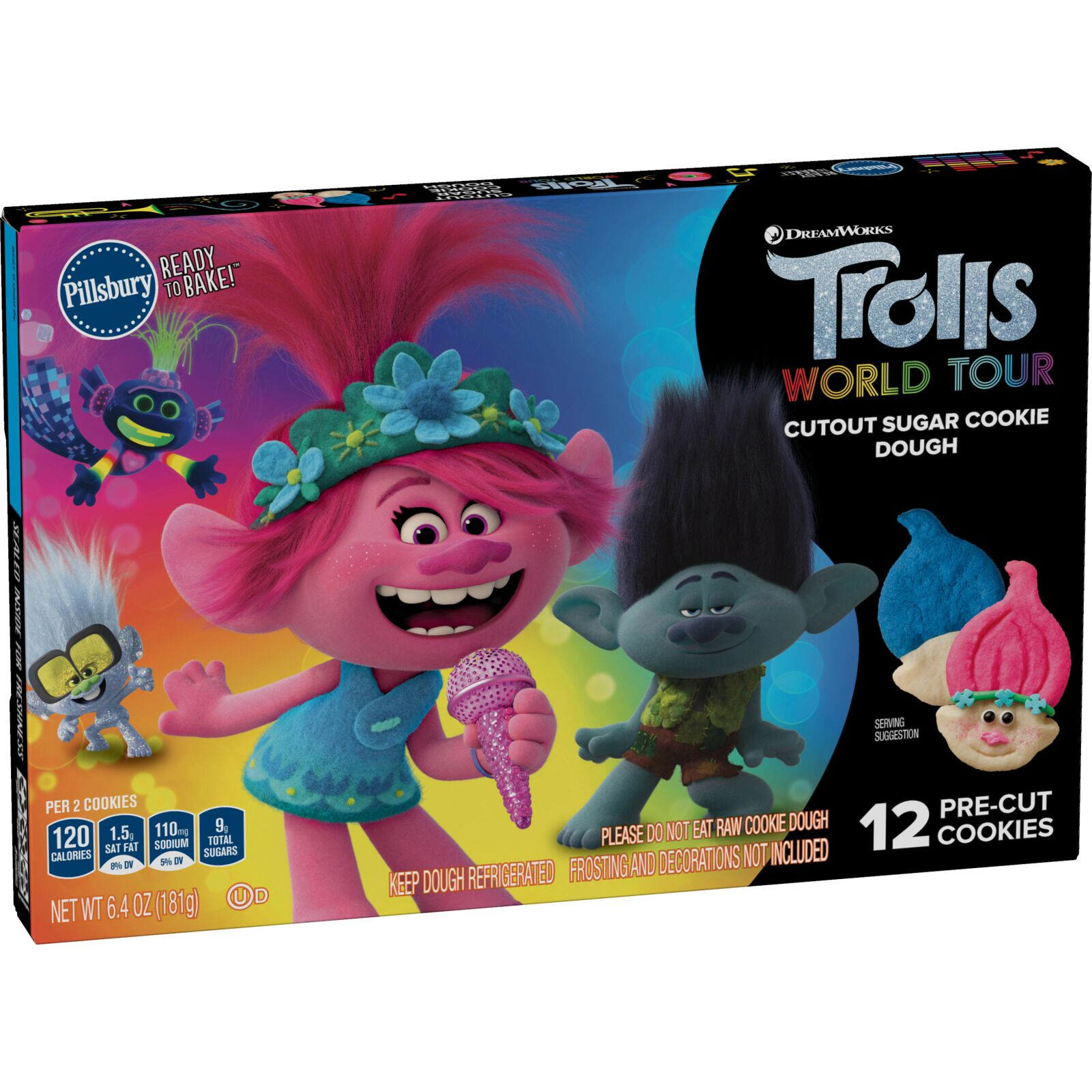 Pillsbury gets colorful with Limited Edition Trolls Sugar Cookie Dough
