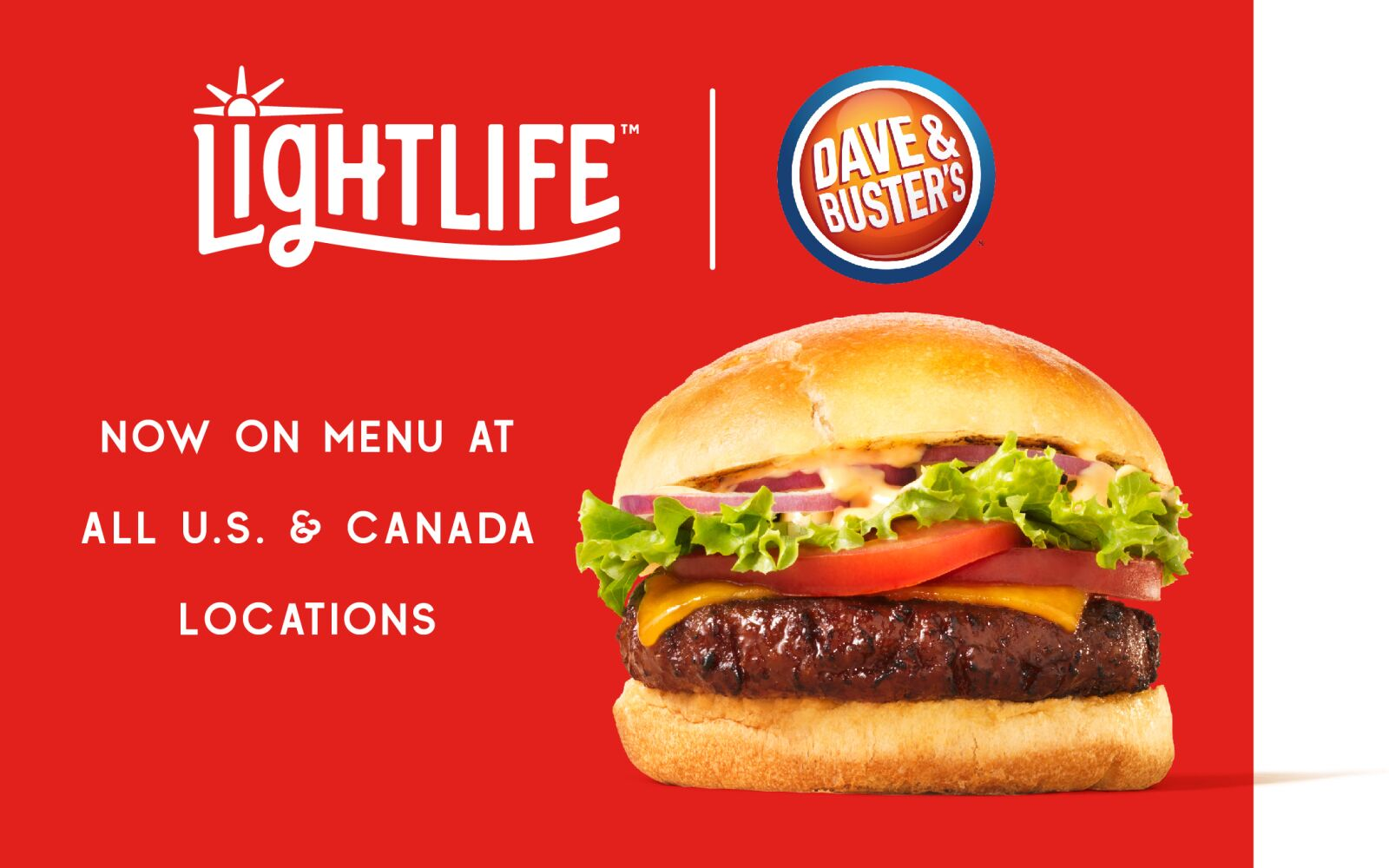 The plant-based burger war heats up at Dave and Buster's