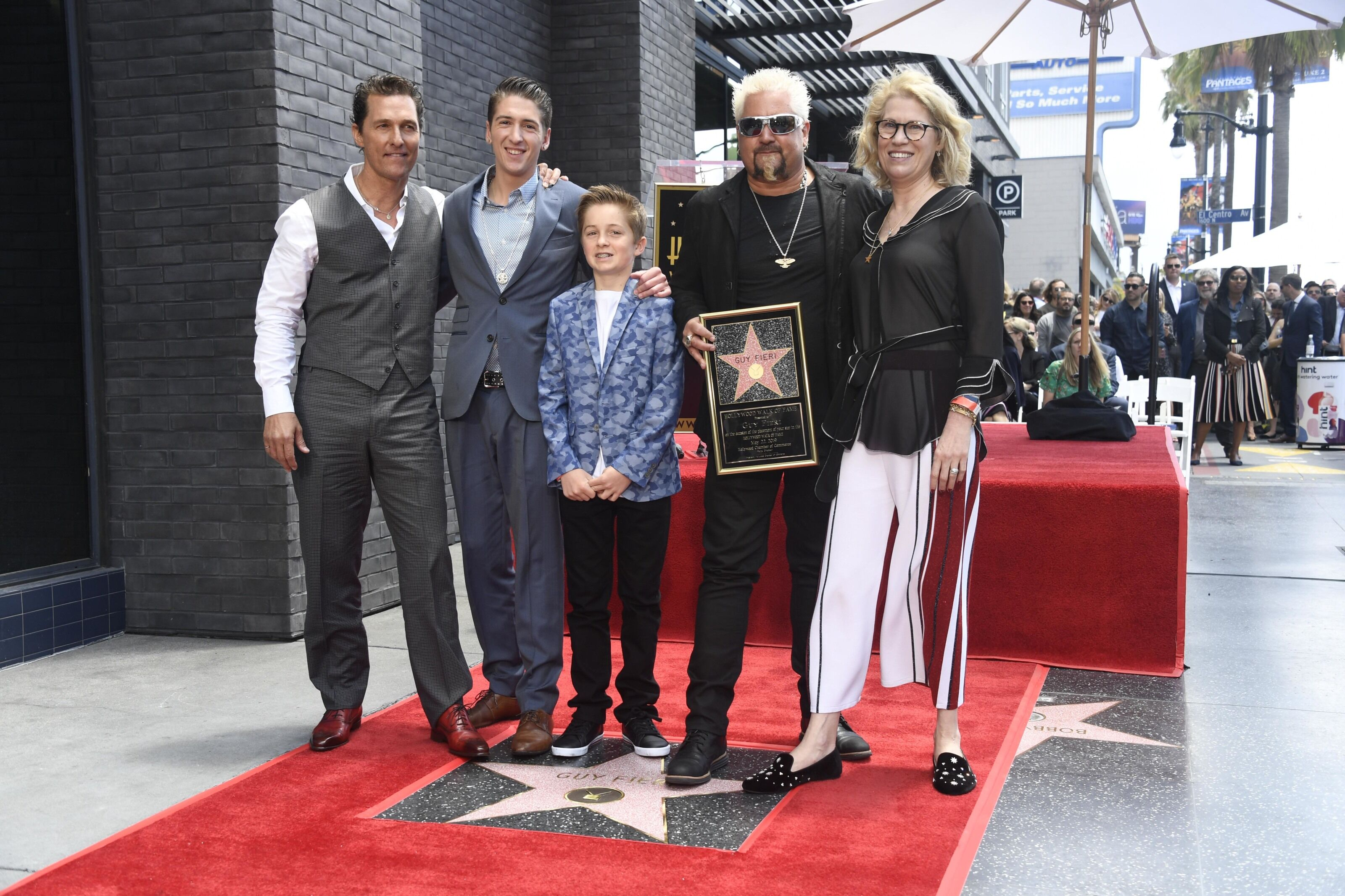 How many chefs have a star on the Hollywood Walk of Fame?