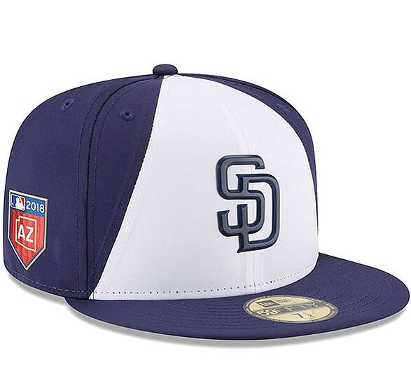ddaa2ed14c01c7 San Diego Padres New Era 2018 Spring Training Collection Prolight 59FIFTY  Fitted Hat