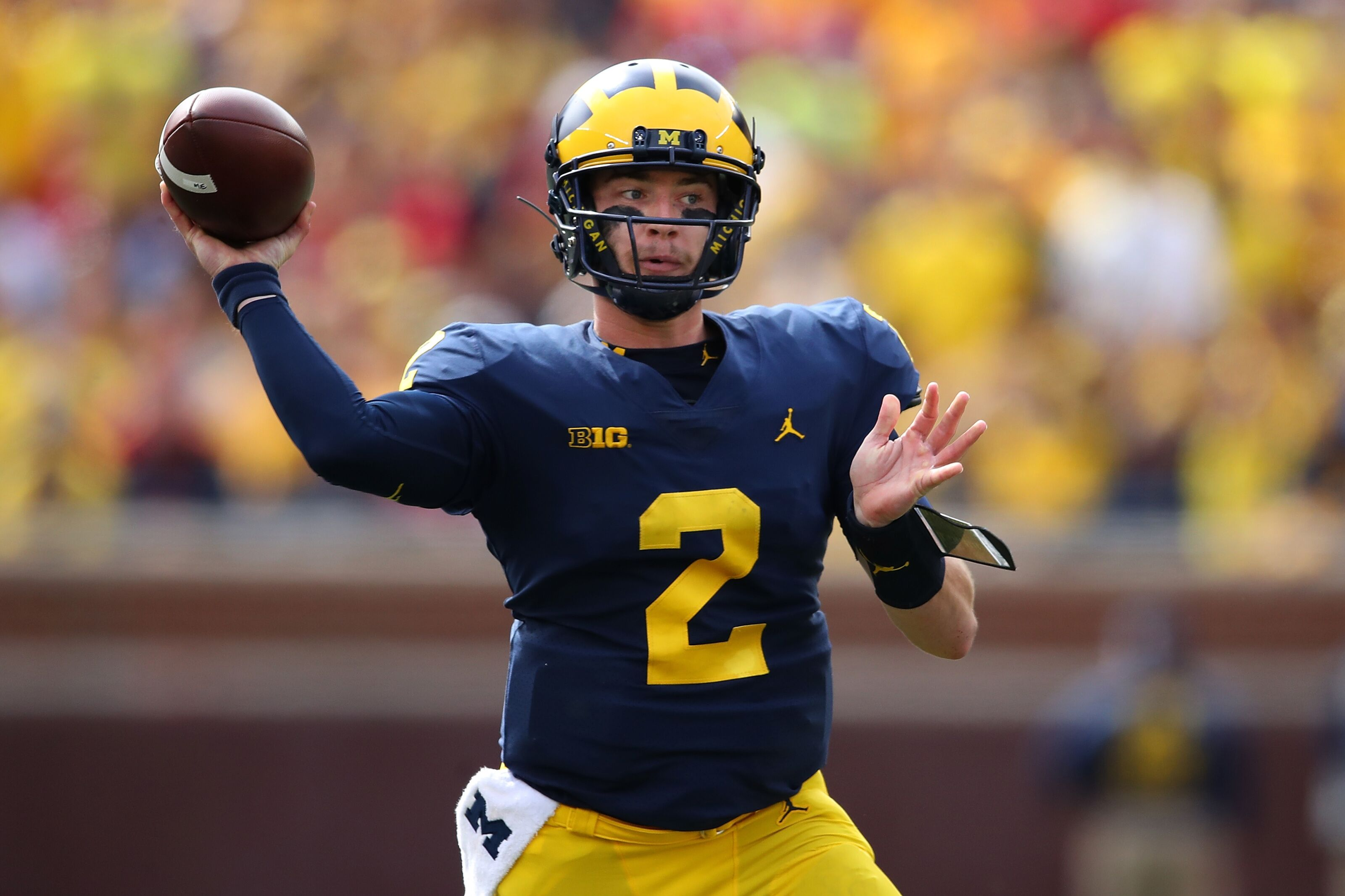 huge selection of ca334 44126 Michigan Football: Shea Patterson proves he can deliver in ...