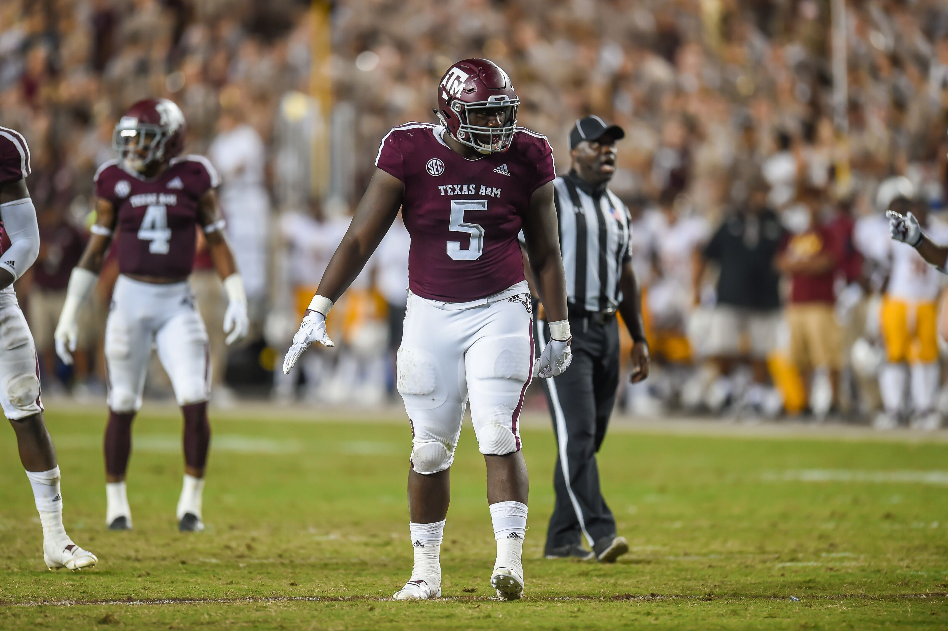 Texas A&M football: Bobby Brown making a position switch?