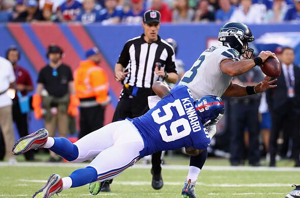 New york giants ideal blueprint to win nfc east in 2018 page 5 east rutherford nj october 22 devon kennard 59 of the new york giants tackles quarterback russell wilson 3 of the seattle seahawks during the second malvernweather Image collections