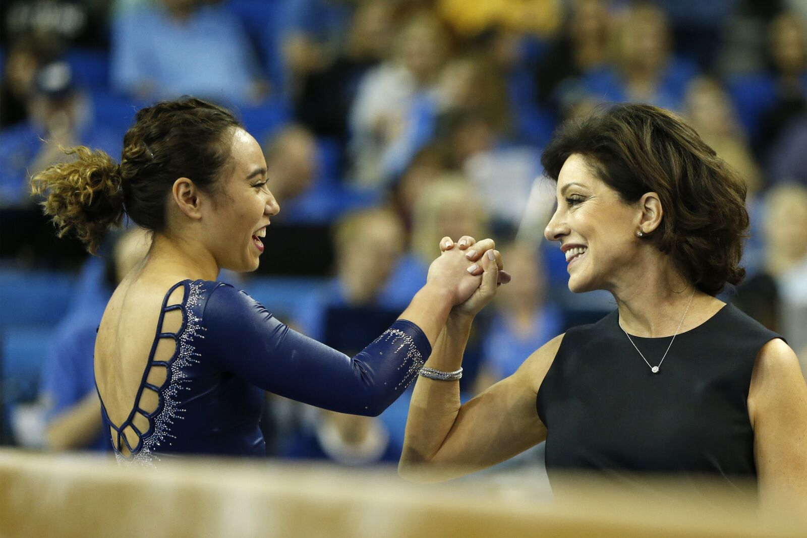 UCLA Gymnastics miss out on a title, but Miss Val still goes out on top