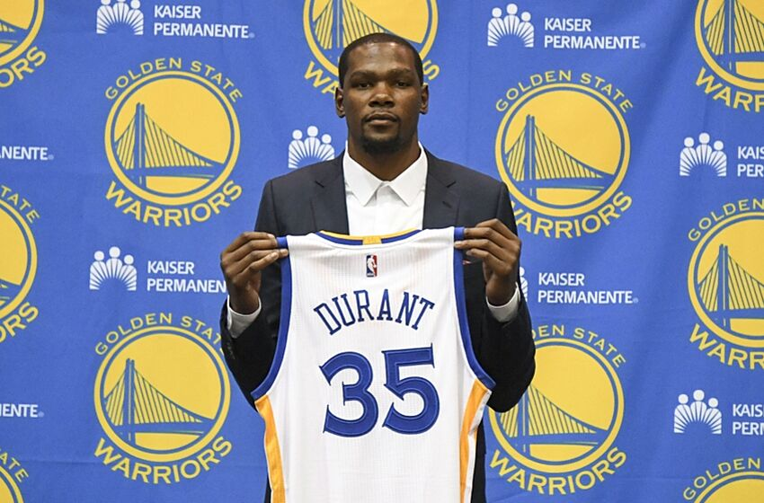 Image result for kevin durant signs with warriors