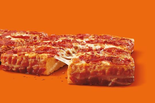 Little Caesars: Bacon wrapped deep dish pizza is back!