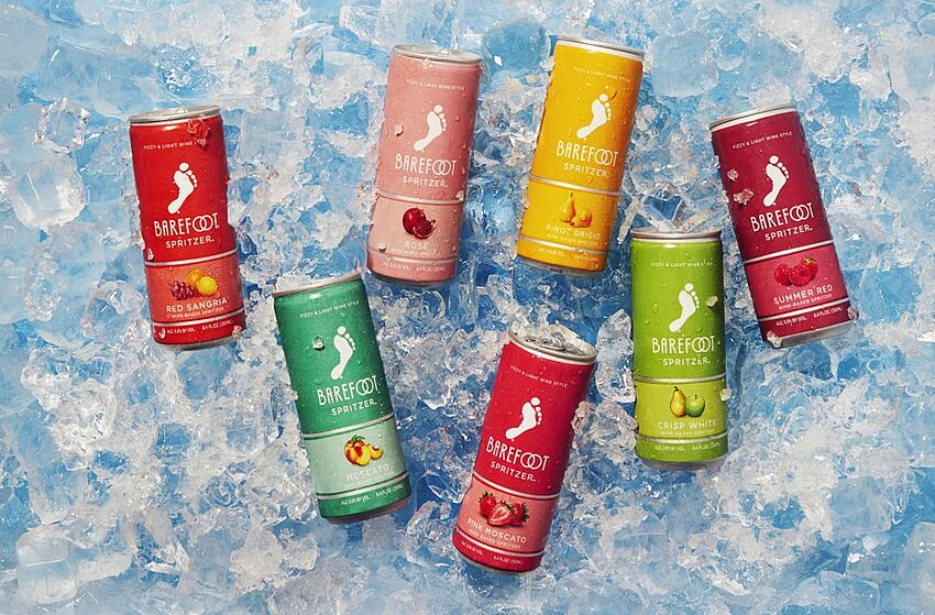Barefoot canned wine flavors: New Pink Moscato and Pinot