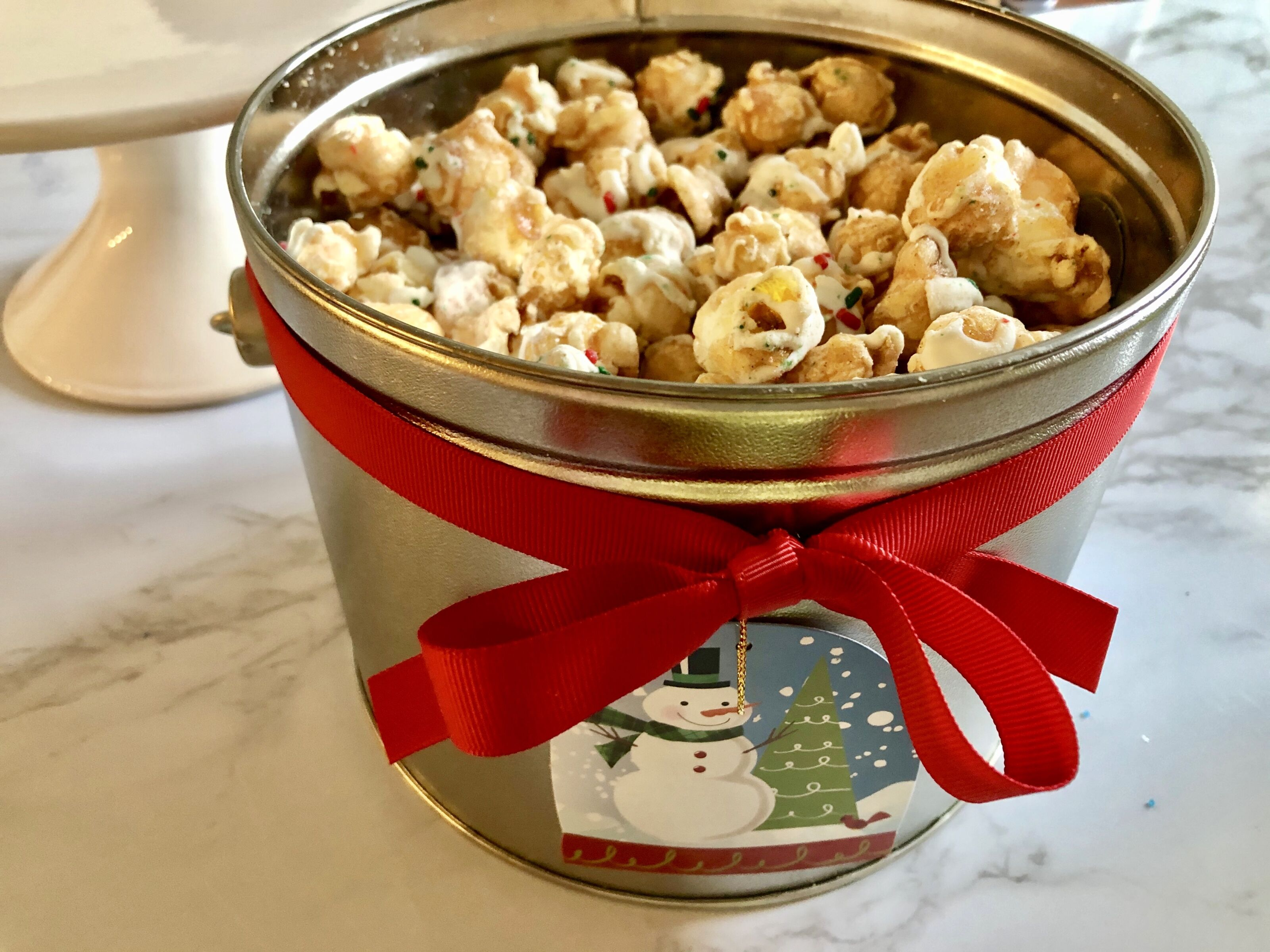 Magical Holiday Popcorn Pail from The Popcorn Factory