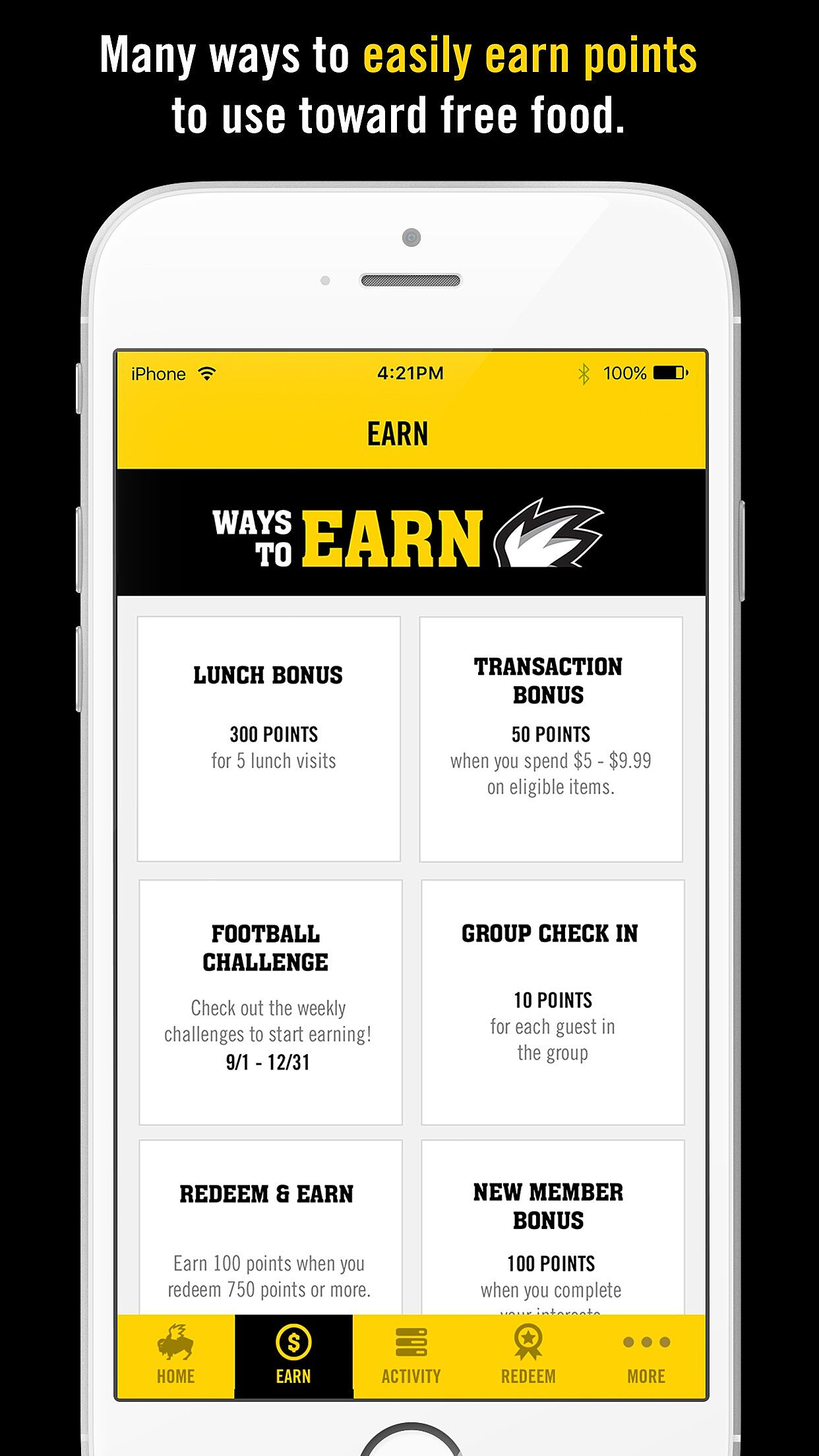 Buffalo Wild Wings offers Blazin\' Rewards customer loyalty program