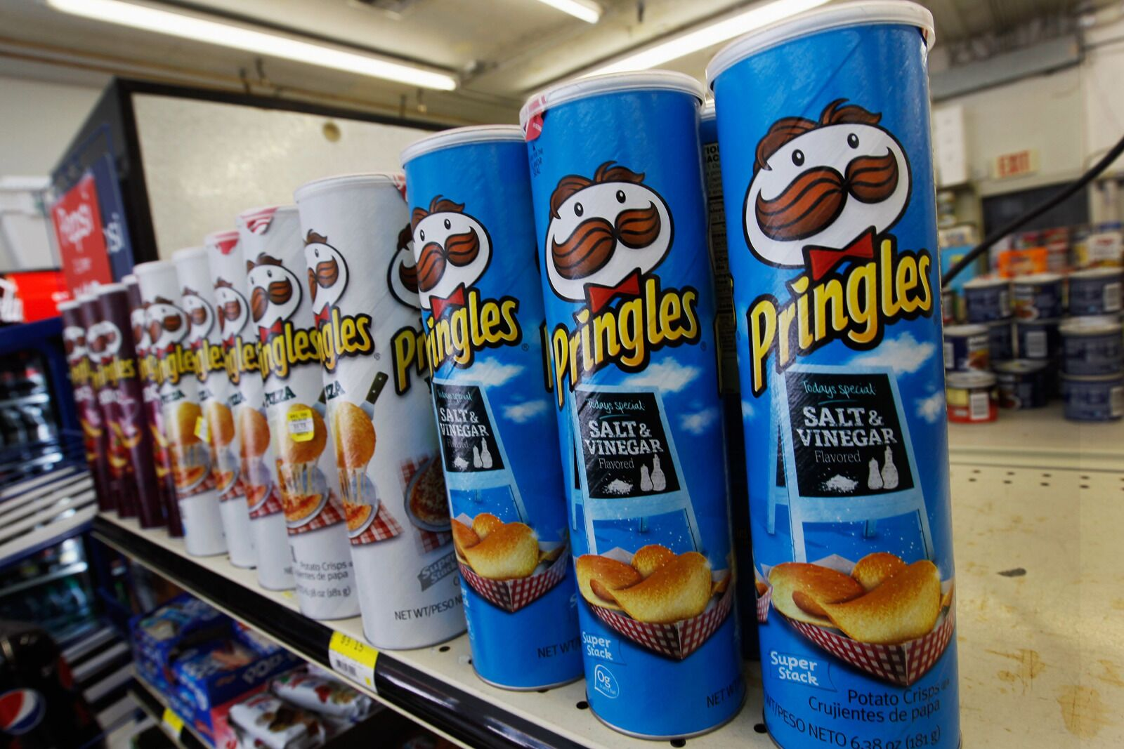 Where can you find Pringles Mac 'N Cheese flavor chips?