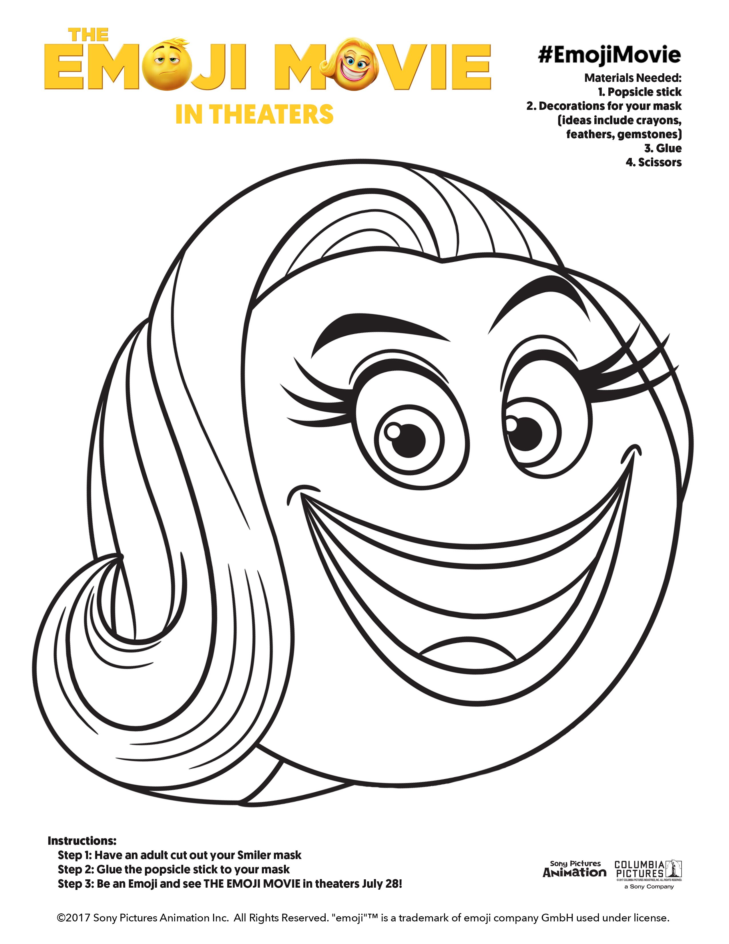 the emoji movie u0027 get the fun going with these coloring pages