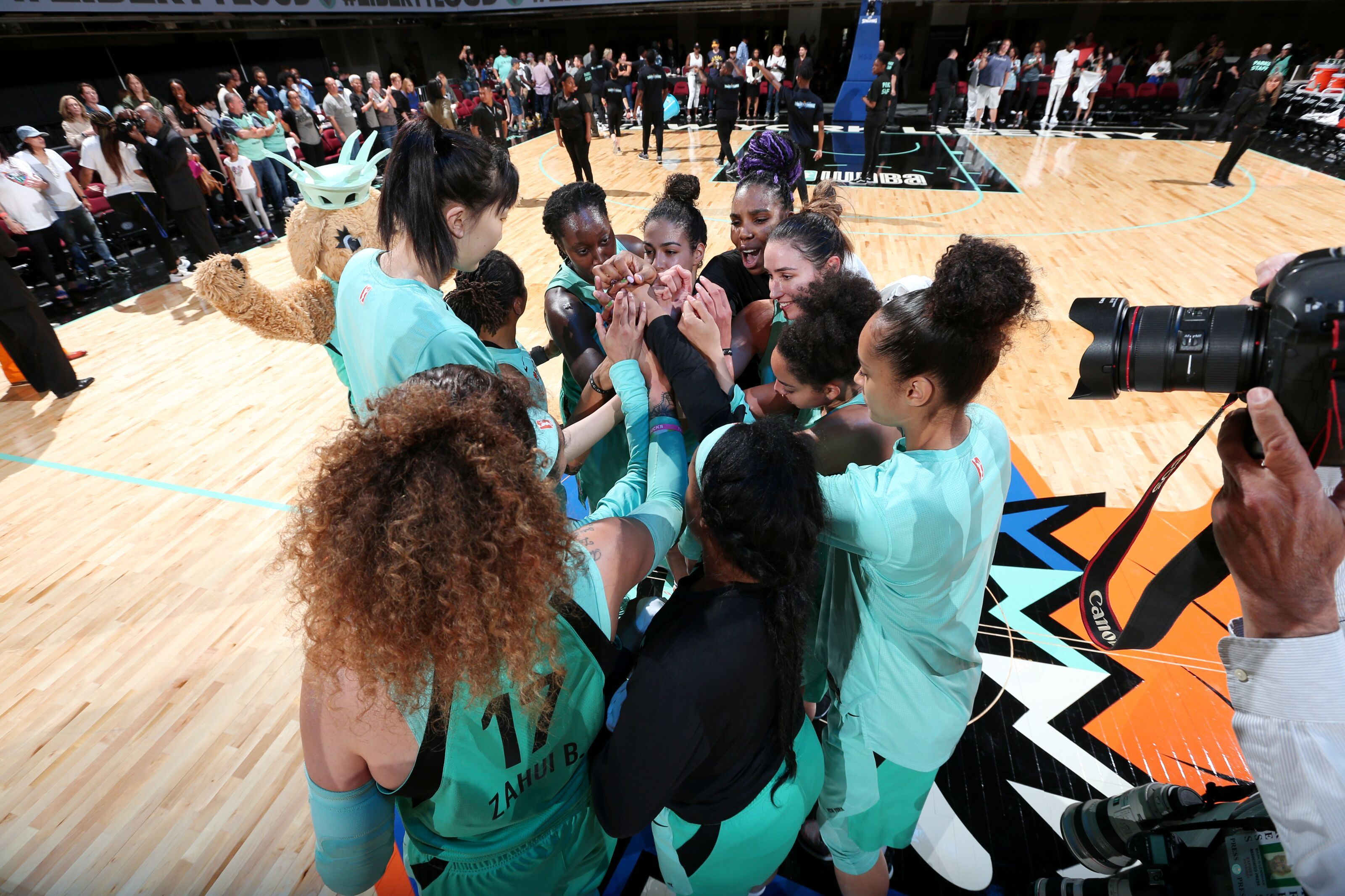 Liberty jolts Aces for first win against former coach Laimbeer
