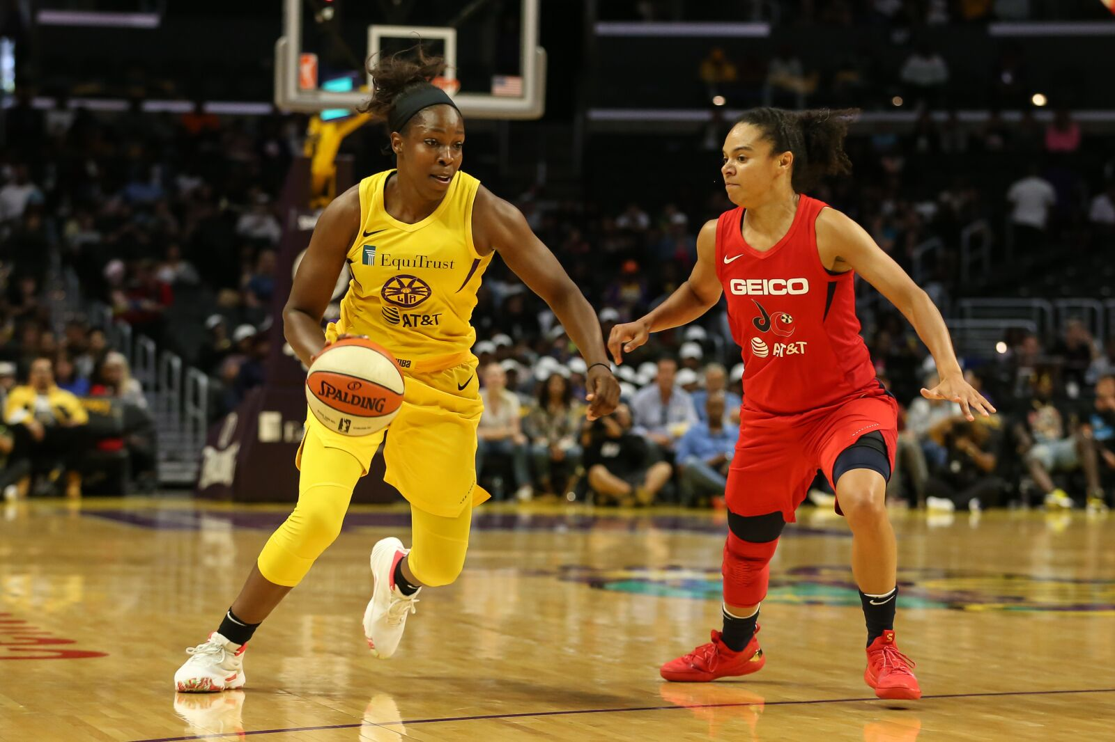 Los Angeles showcased its overwhelming individual talent against the Mystics