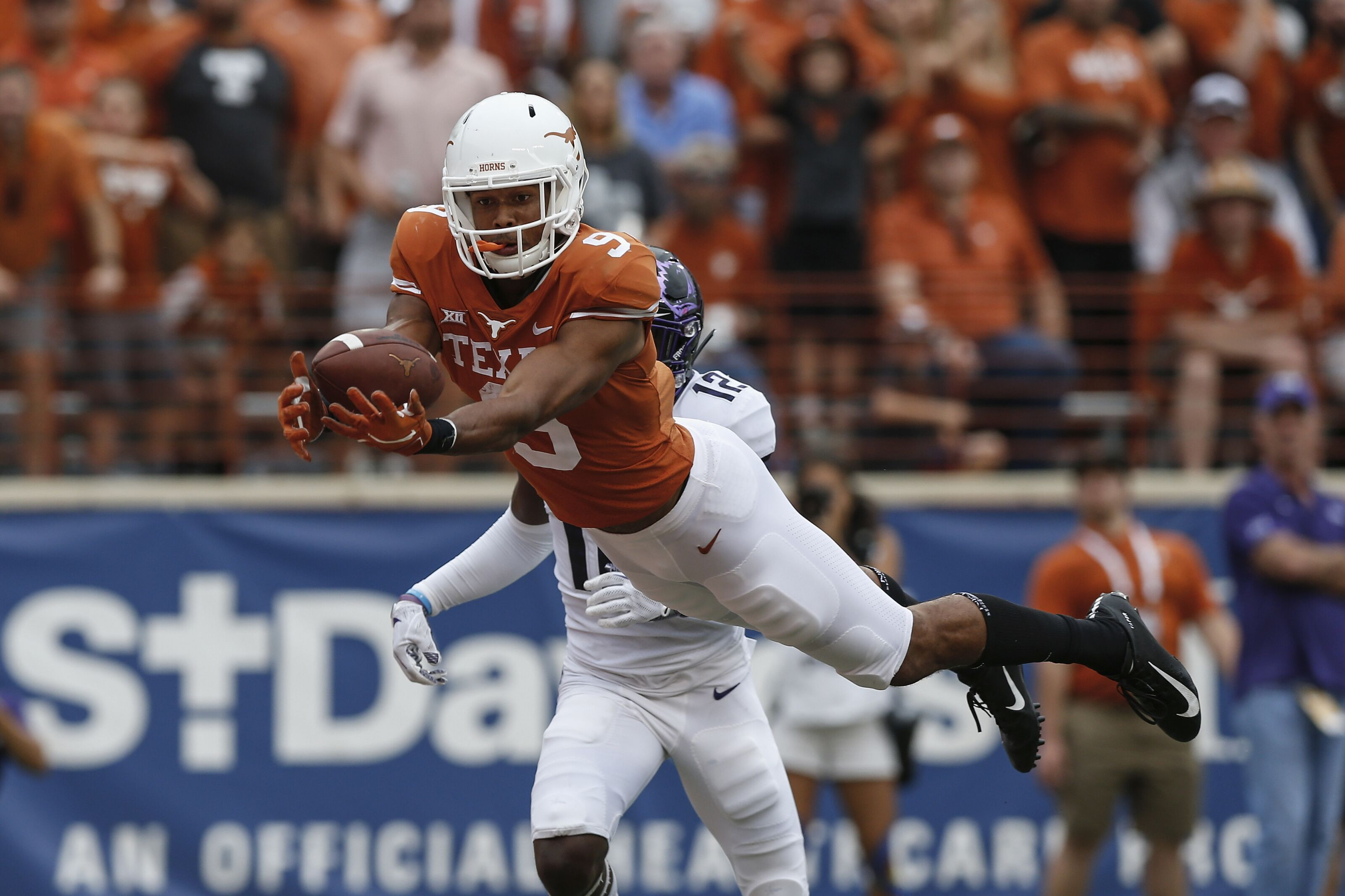 WATCH: Texas football WR Collin Johnson makes possible ...