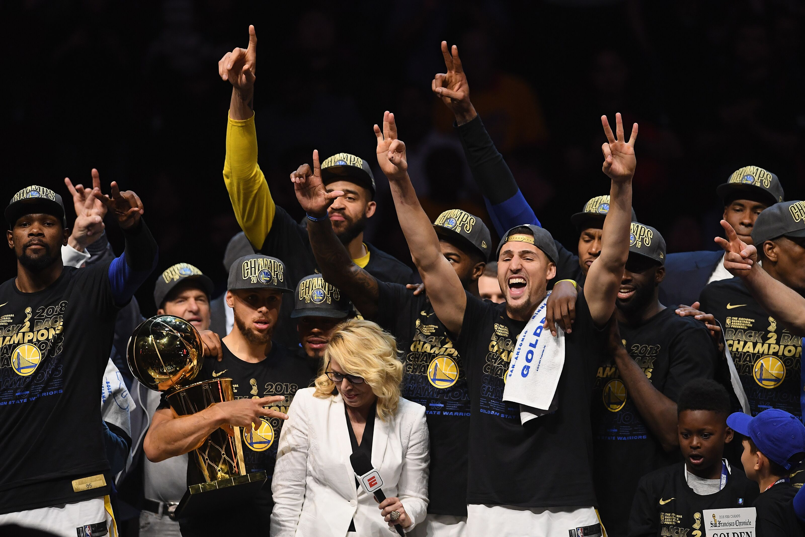 296eee46a Golden State Warriors  Top 10 moments from 2017-18 NBA season