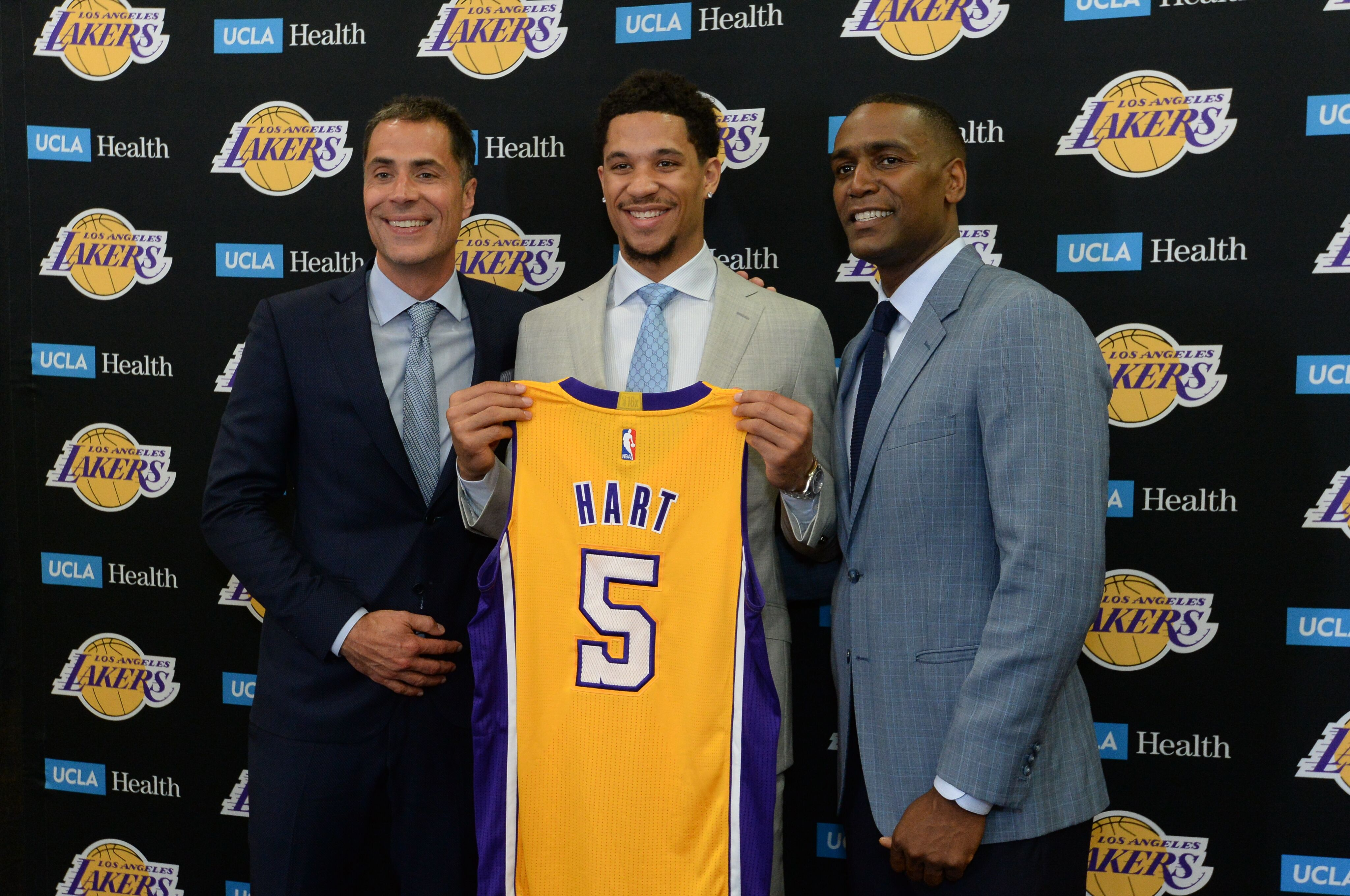 6db8b371f41 Los Angeles Lakers  5 goals for Josh Hart s rookie season
