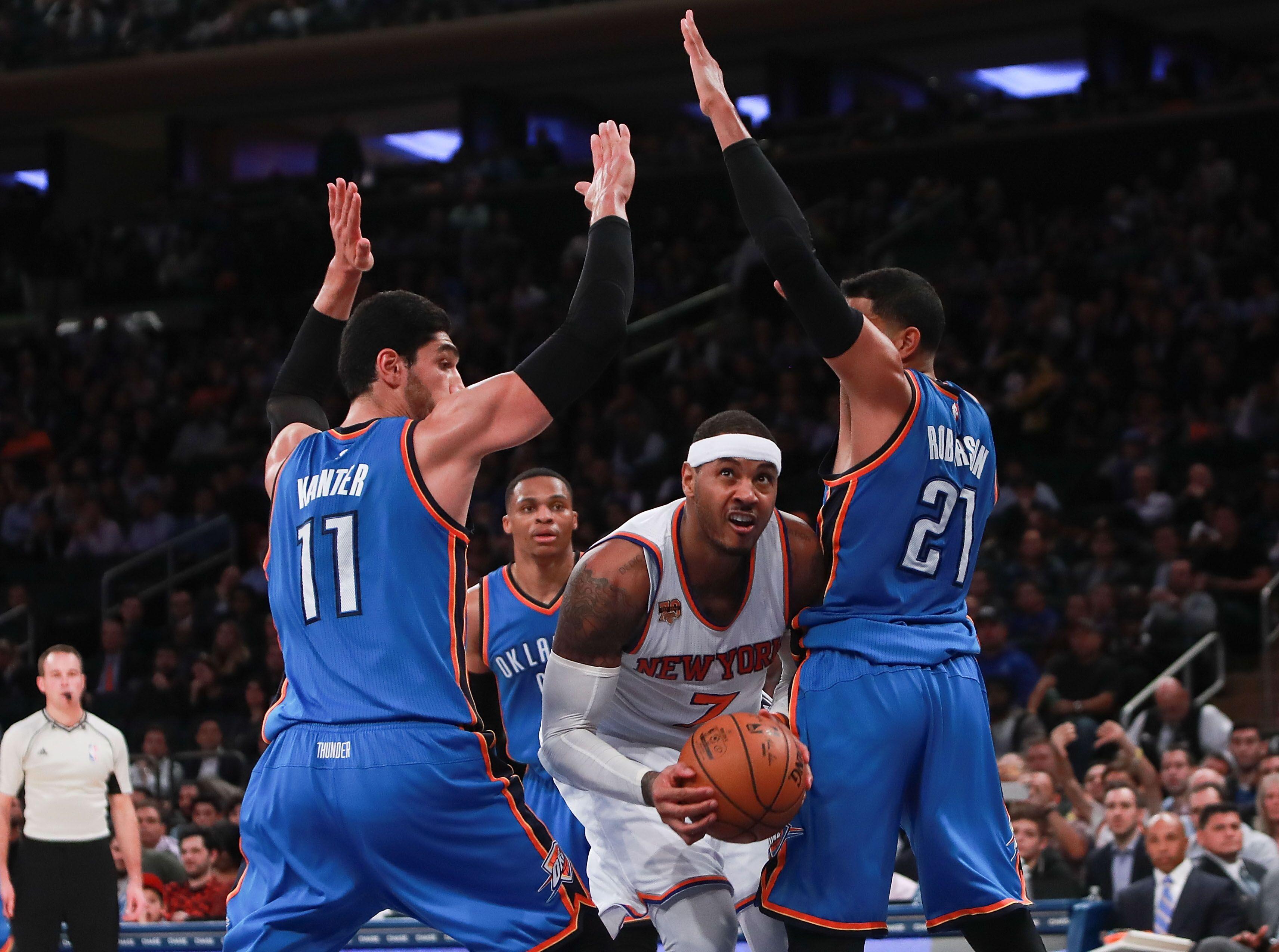 1528c8f5 NBA Trade Grades: Knicks send Carmelo Anthony to Thunder