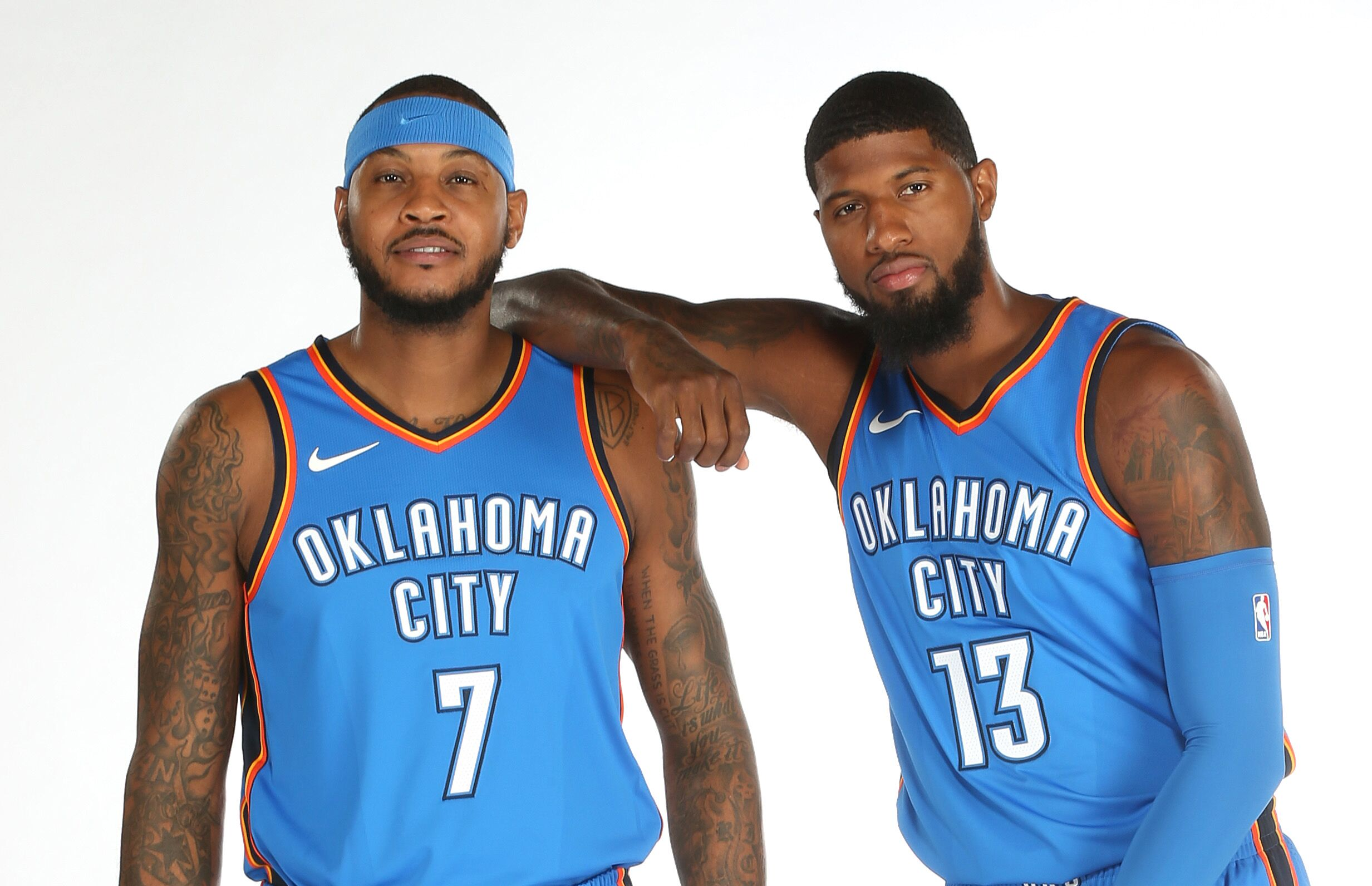 half off b3762 ef1f9 OKC Thunder: George and Anthony display talents in first game
