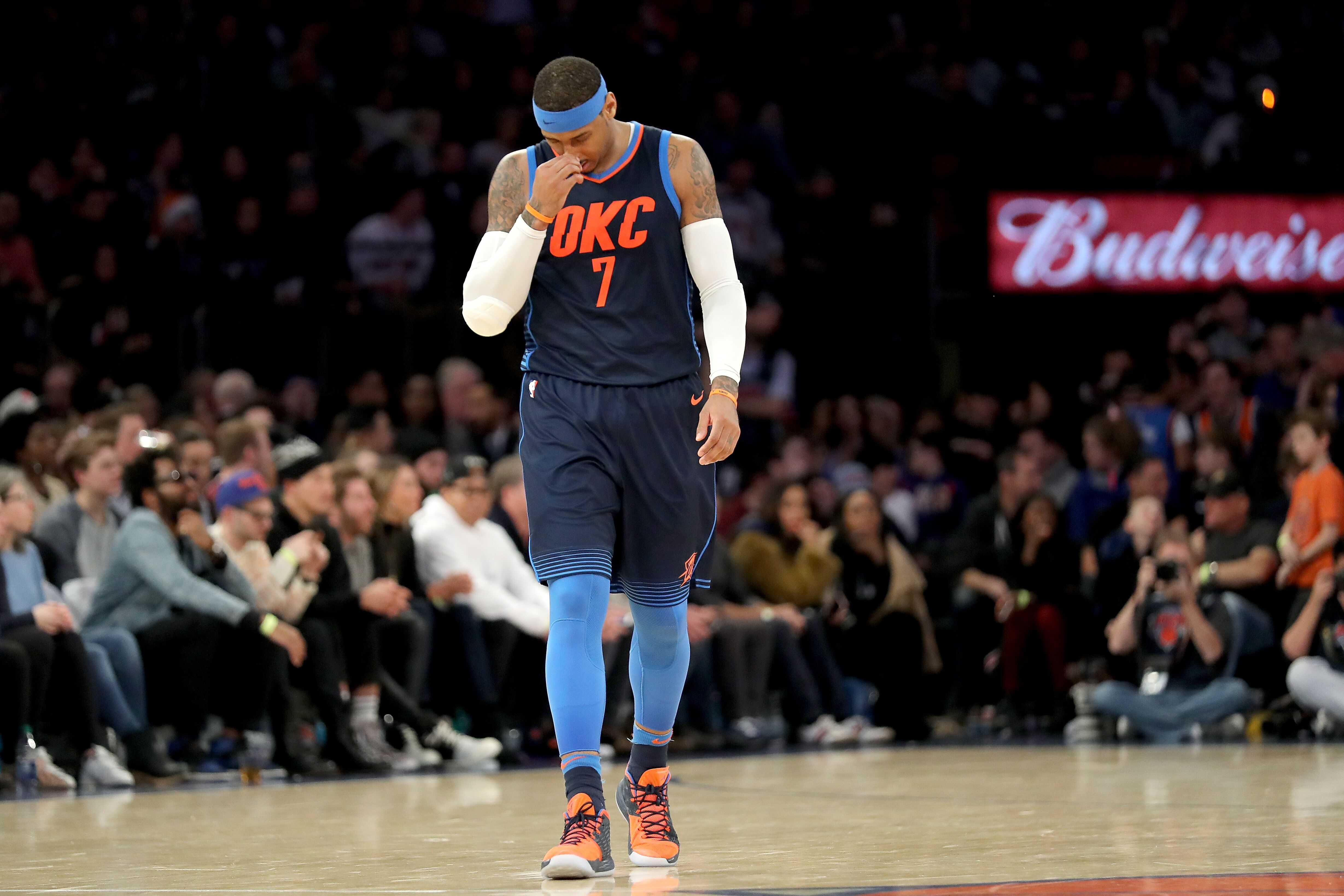 ae4e882e4 Carmelo Anthony s return to New York to face Knicks spoiled in loss