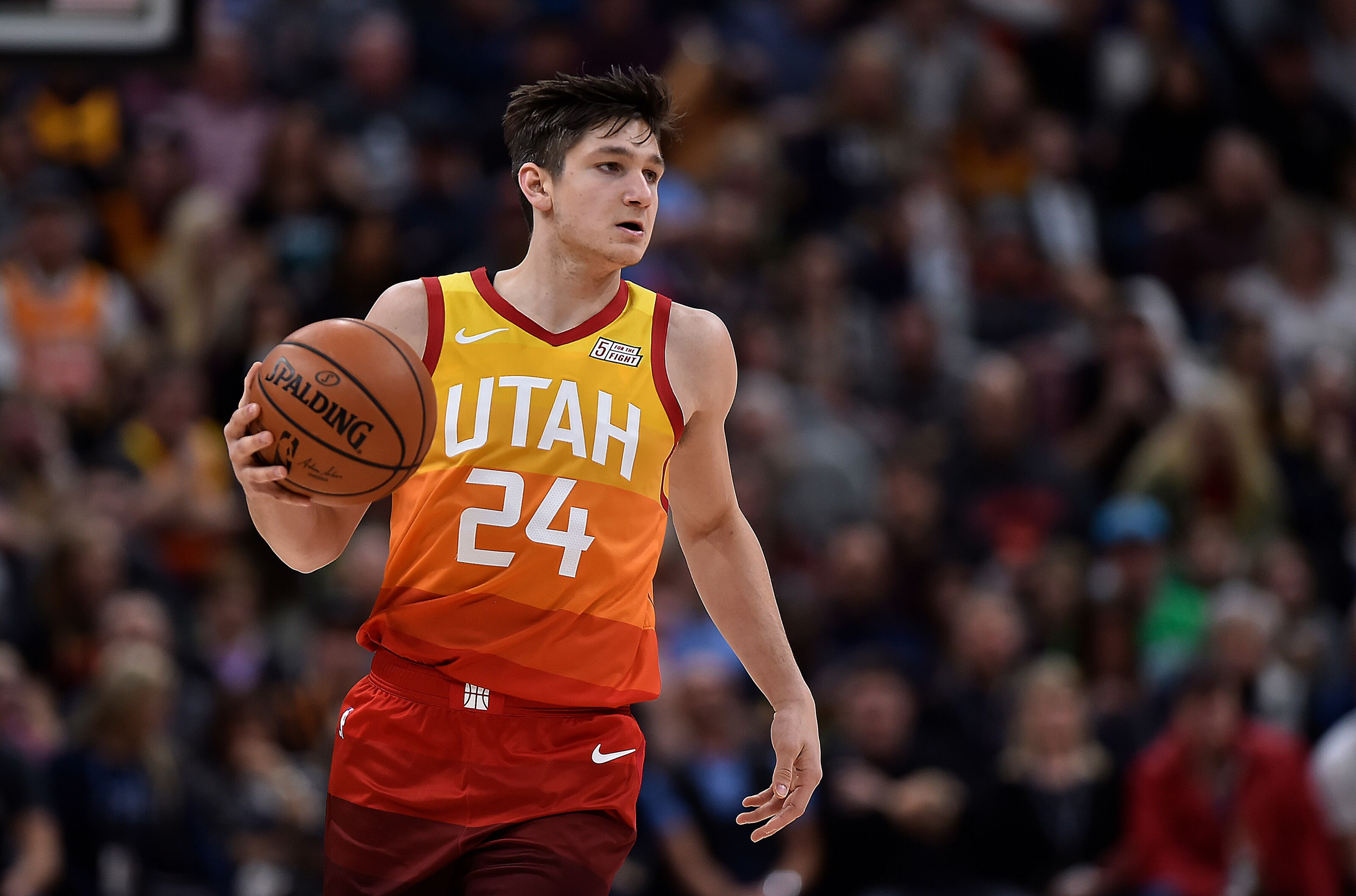 best service 46e74 0b68e Utah Jazz: Evaluating Grayson Allen's rookie season so far