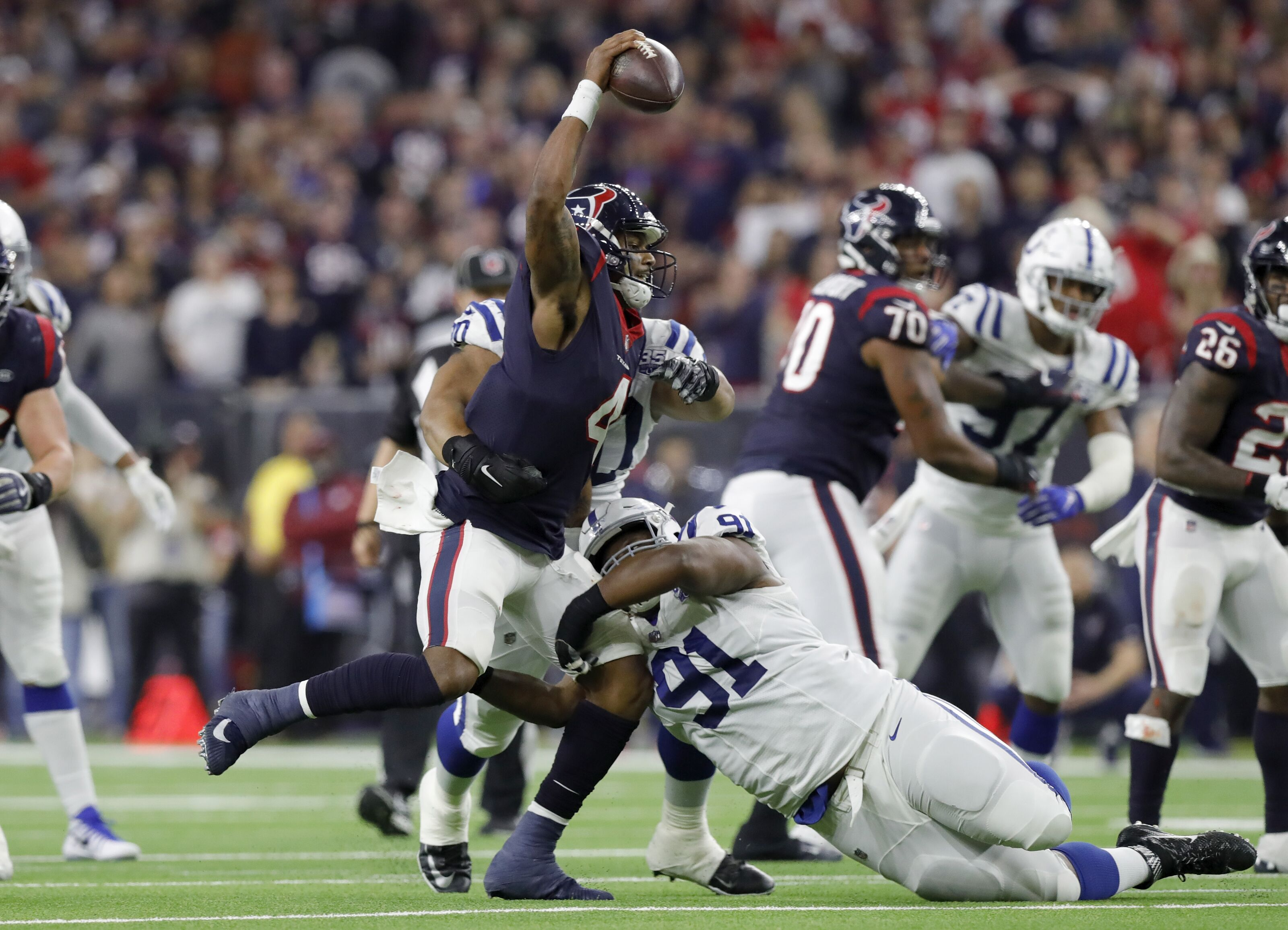 Colts defensive line key to victory against Houston Texans