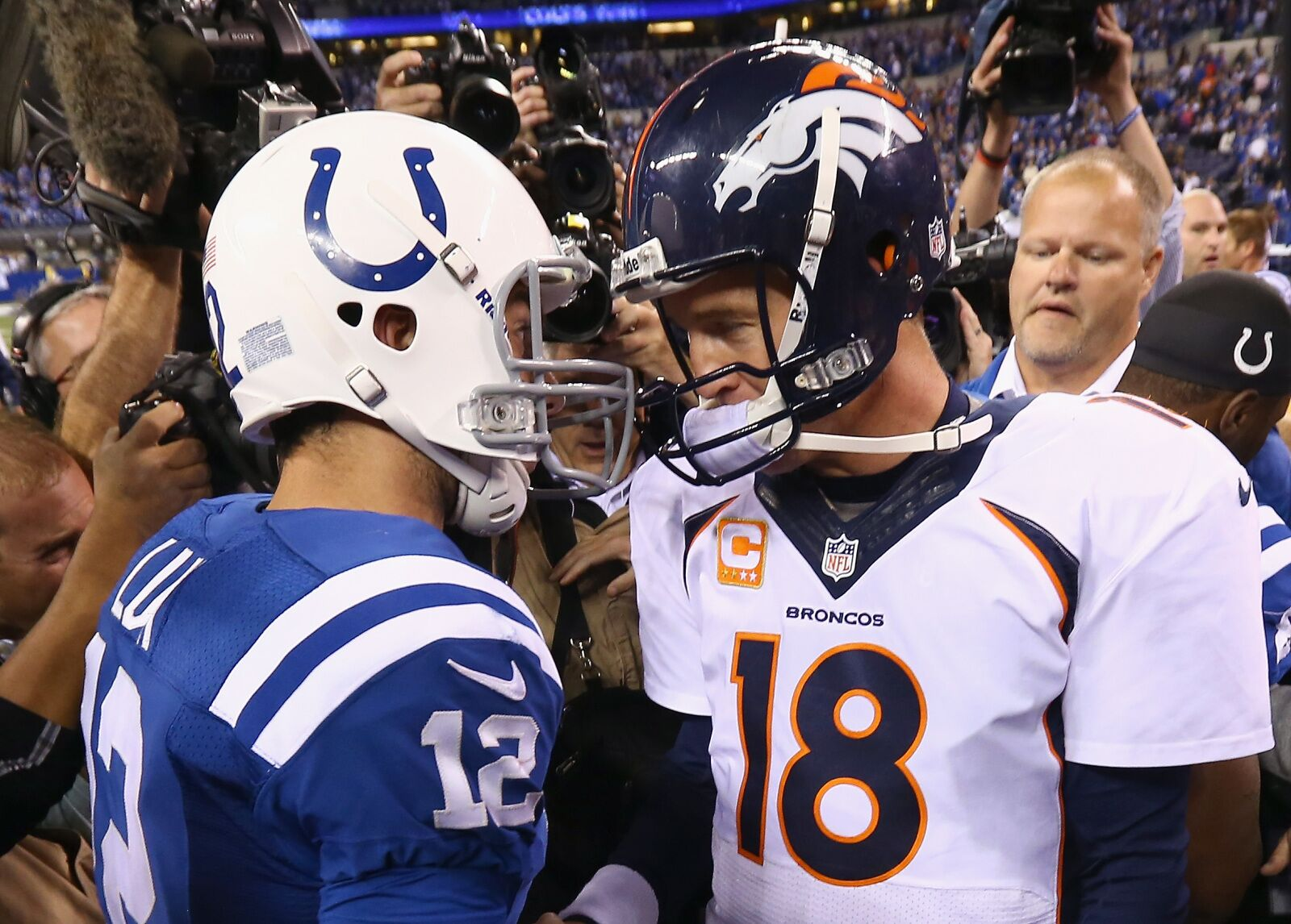 How Andrew Luck's career compares to Peyton Manning's