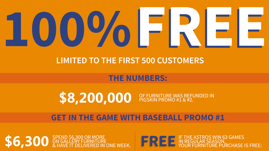 Gallery Furniture Does An Astros Promotion Win 63 Games